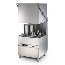 CHEFOOK lave-vaisselle à capot électronique Panier dim. 60x67cm h max 42cm Doseurs détergent et produit de rinçage installés