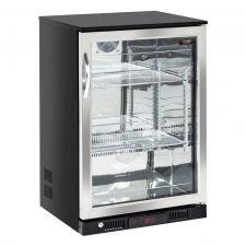 CHEFOOK Frigo Boissons Bar à Poser/Encastrer 138 Litres +1/+10°C Porte Battante