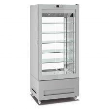 CHEFOOK Vitrine Réfrigérée Pâtisserie et Glacerie 600 Litres +5°C/-20°C Ligne Top 2 Faces Vitrées H 190 cm