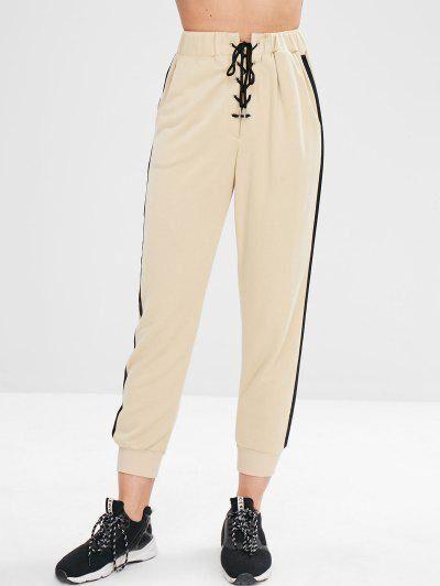 ZAFUL Pantalon de Survêtement de Jogging Blanche Amande L