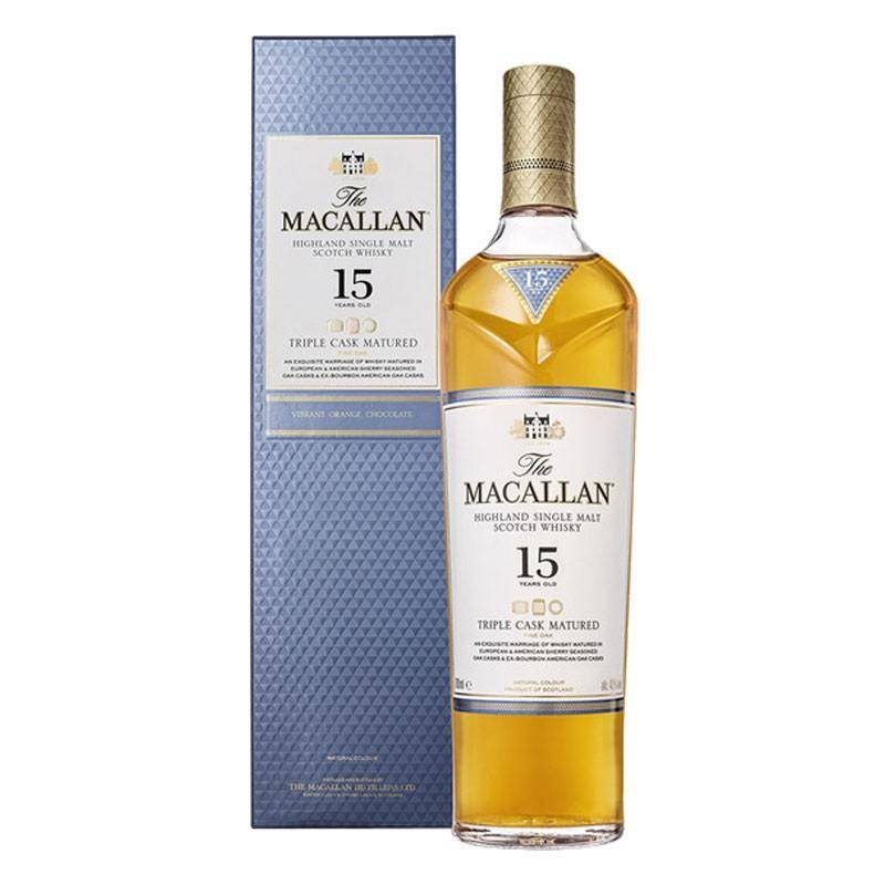 The Macallan Distillers The Macallan 15 Ans Triple Cask