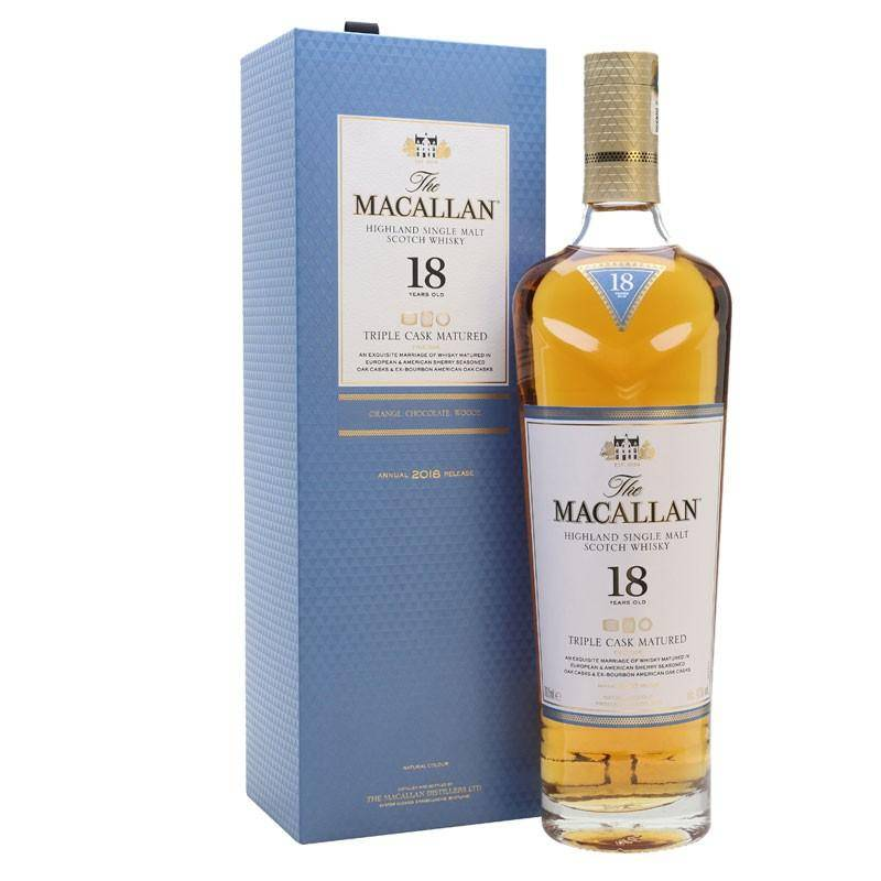 The Macallan Distillers The Macallan Triple Cask 18 Ans