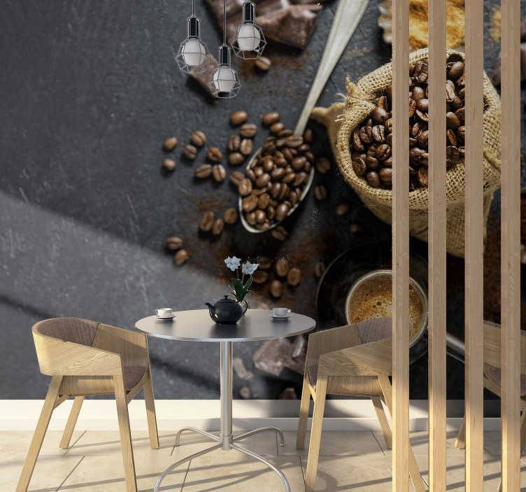TenStickers - Photo murale Photo murale Grains de café