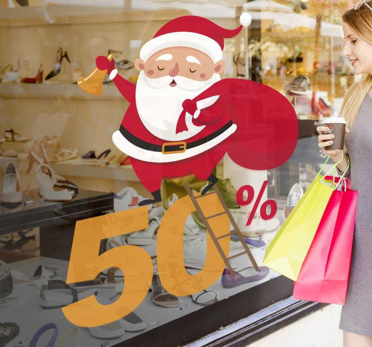 TenStickers - Stickers Sticker affiche Père Noël soldes