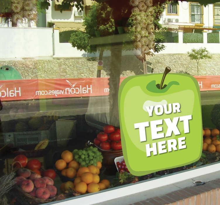 TenStickers - Stickers Sticker primeur pomme
