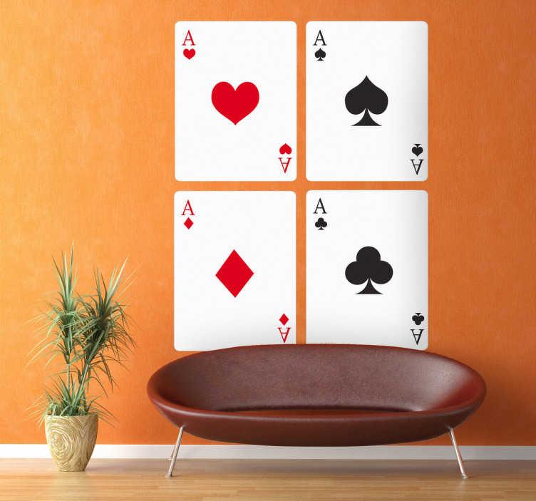 TenStickers - Stickers Sticker décoratif cartes à jouer
