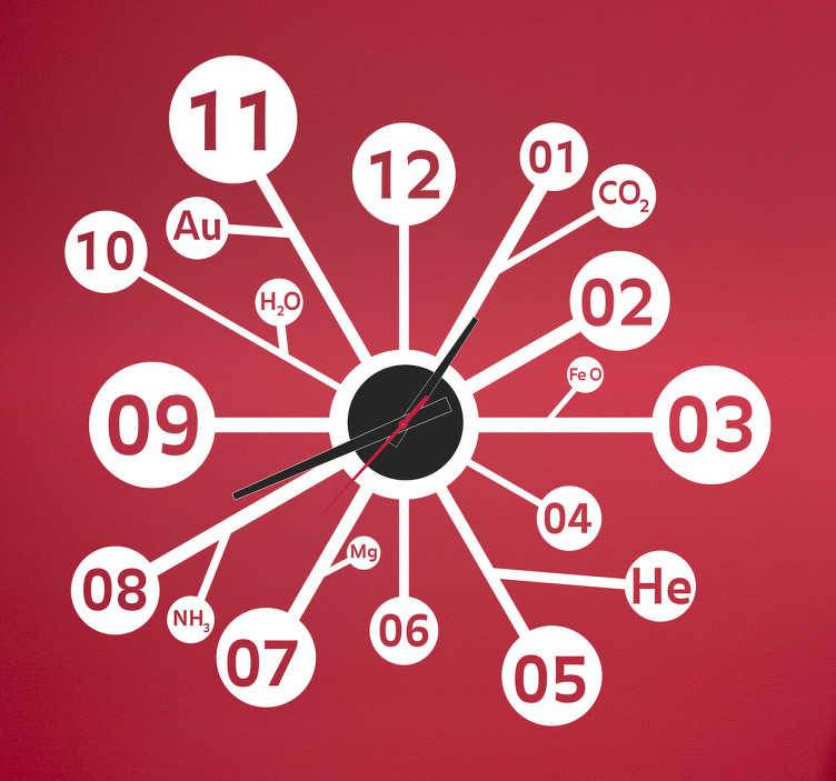 TenStickers - Stickers Sticker horloge sciences molécules