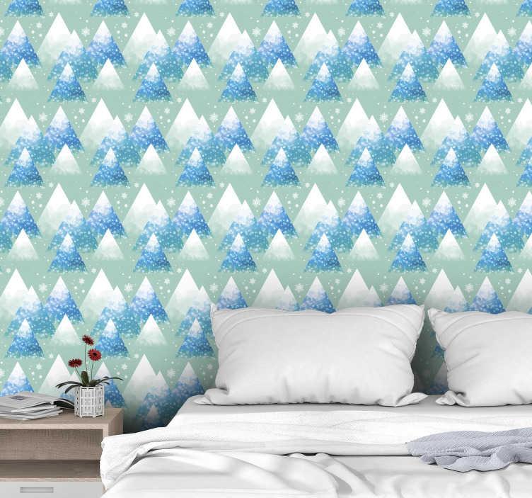 TenStickers - Papier peint Papier peint nature aquarelle montagne