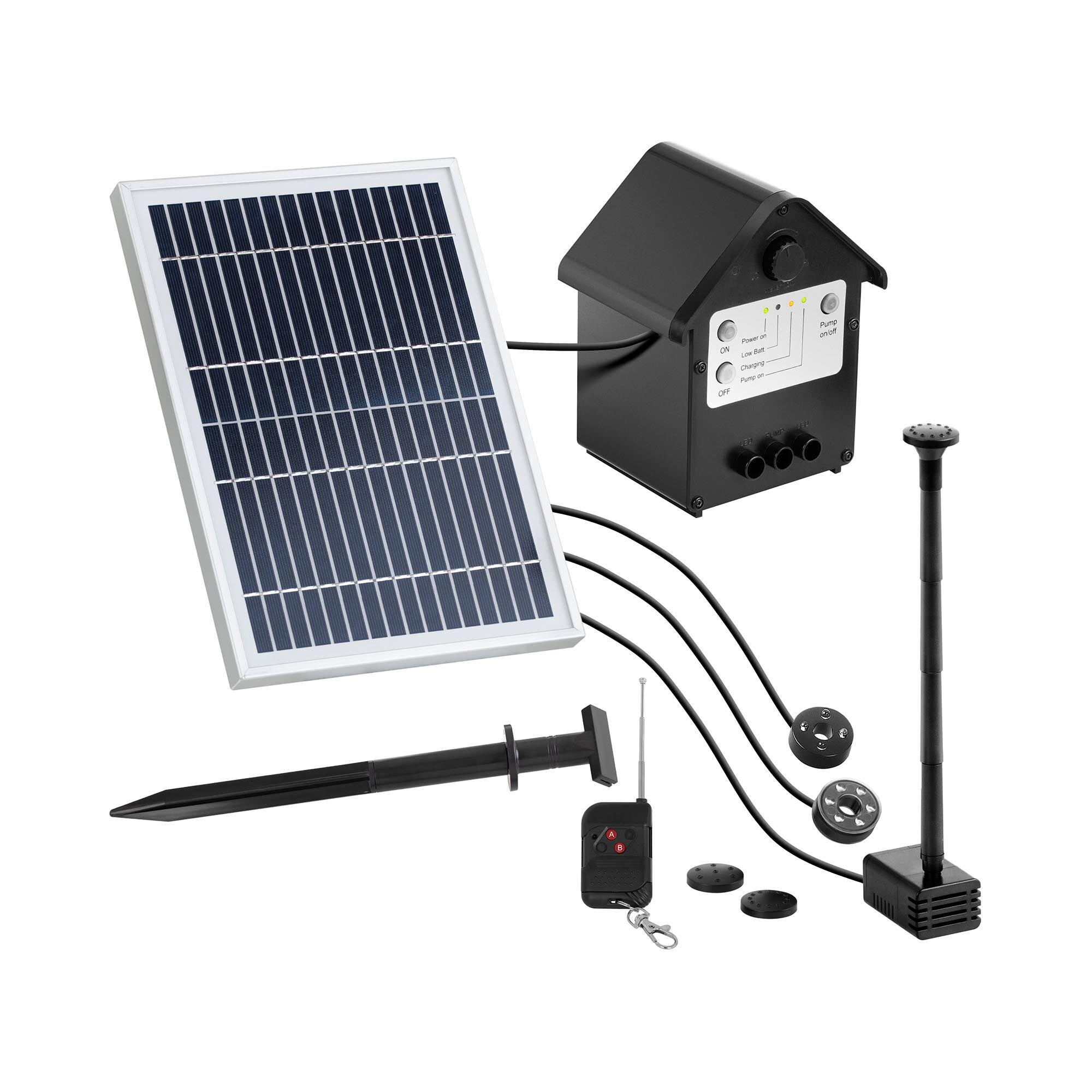 Uniprodo Pompe solaire pour bassin - 250 l/h - LED - Télécommande UNI_PUMP_12