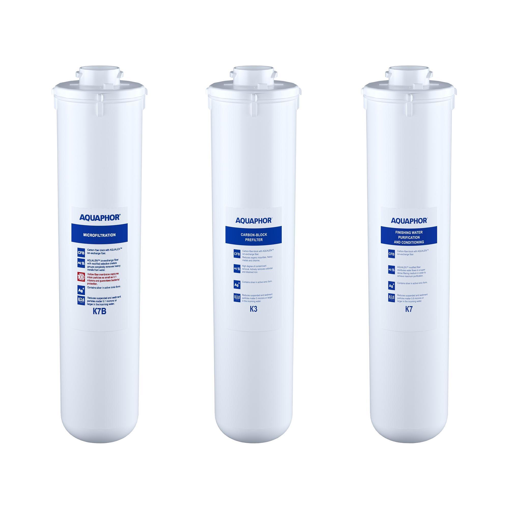 Aquaphor Filtre à charbon actif eau Aquaphor - Kit de filtres de rechange pour CRYSTAL B ECO et FOUNTAIN WATER DISTRIBUTOR CRISTAL B ECO FILTERS
