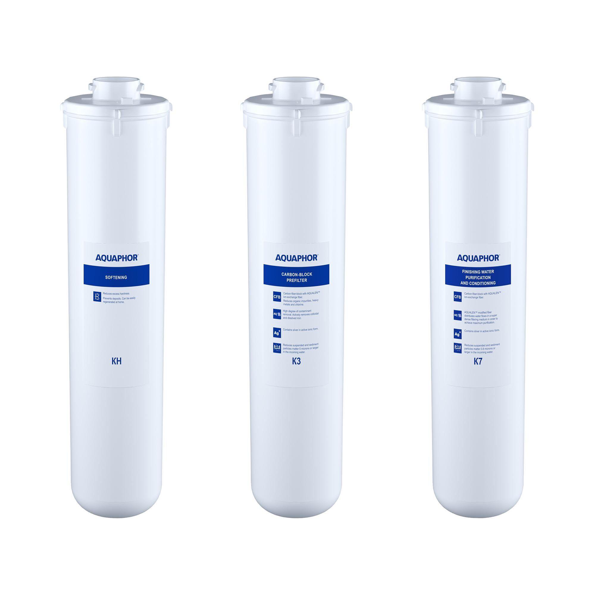 Aquaphor Filtre à charbon actif eau Aquaphor - Kit de filtres de rechange avec filtre calcaire CRISTAL H FILTERS