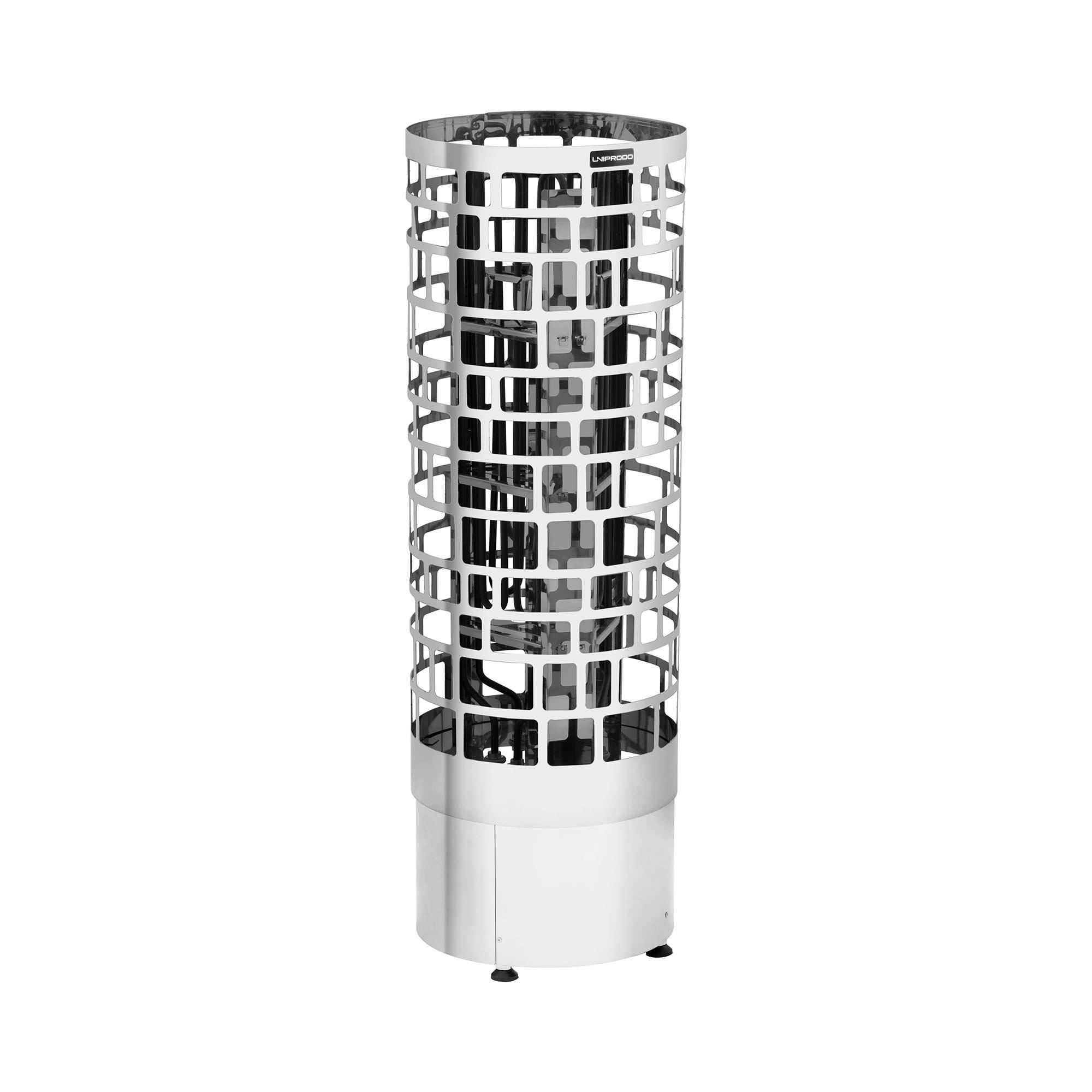 Uniprodo Poêle pour sauna- 6 kW - Modèle en colonne - 30 à 110 °C UNI_SAUNA_V6.0KW