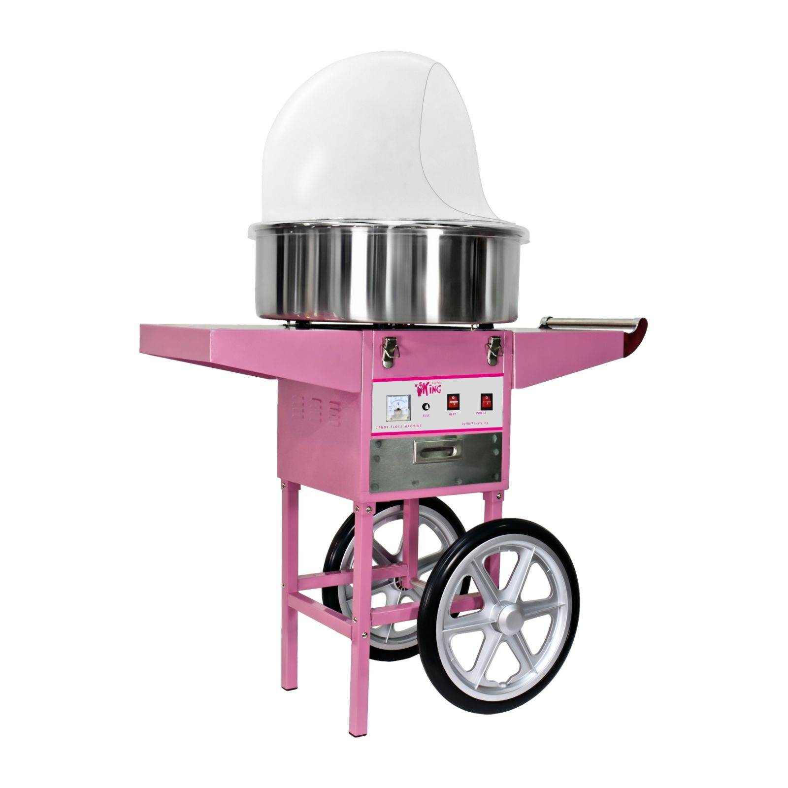 Royal Catering Machine à barbe à papa - 52cm- chariot et coupole RCZC-1200E