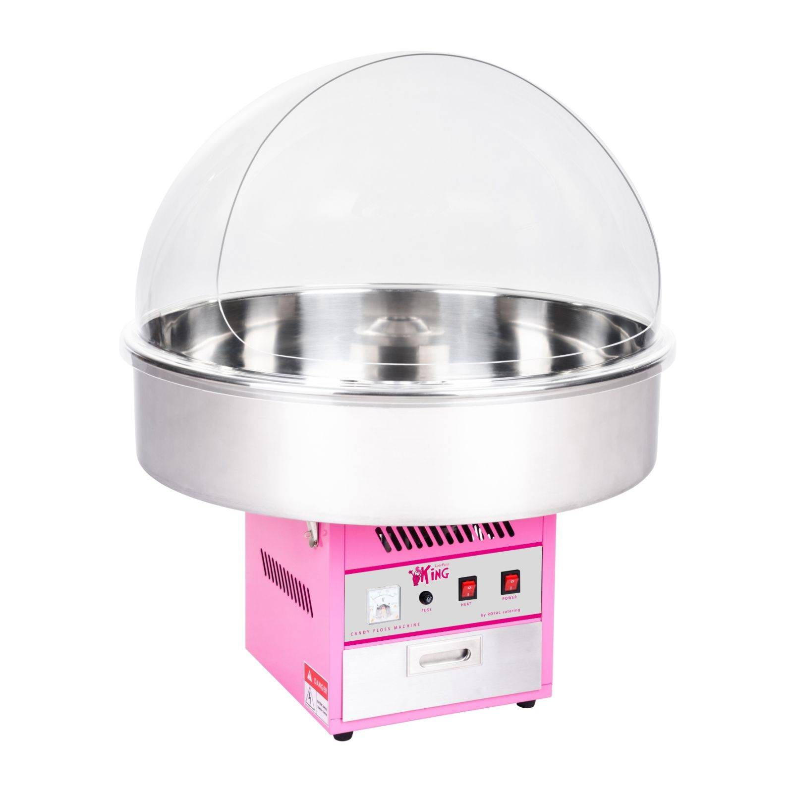 Royal Catering Machine à barbe à papa - 72cm- coupole protection RCZK-1200XL