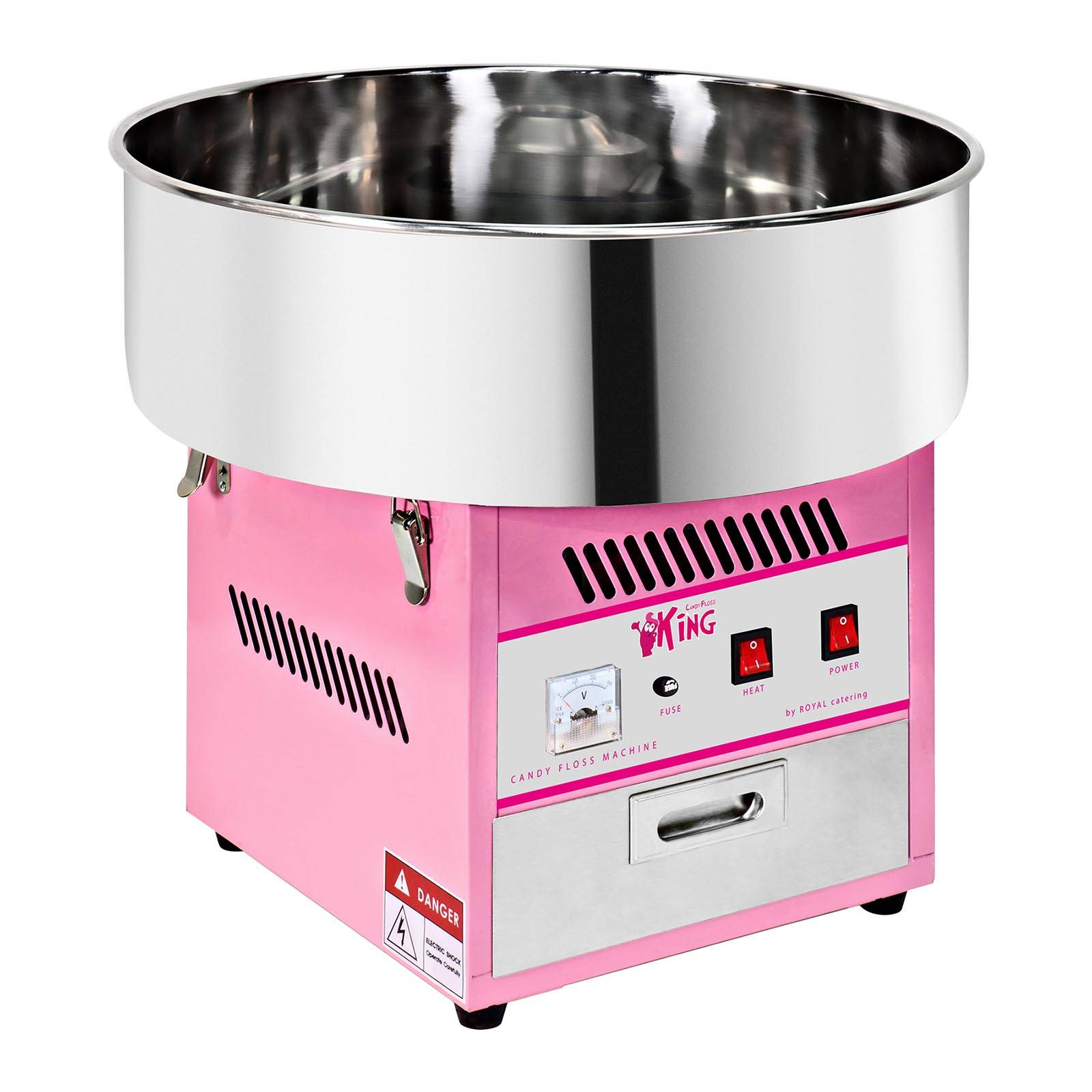Royal Catering Machine à barbe à papa - 52 cm - 1 200 W