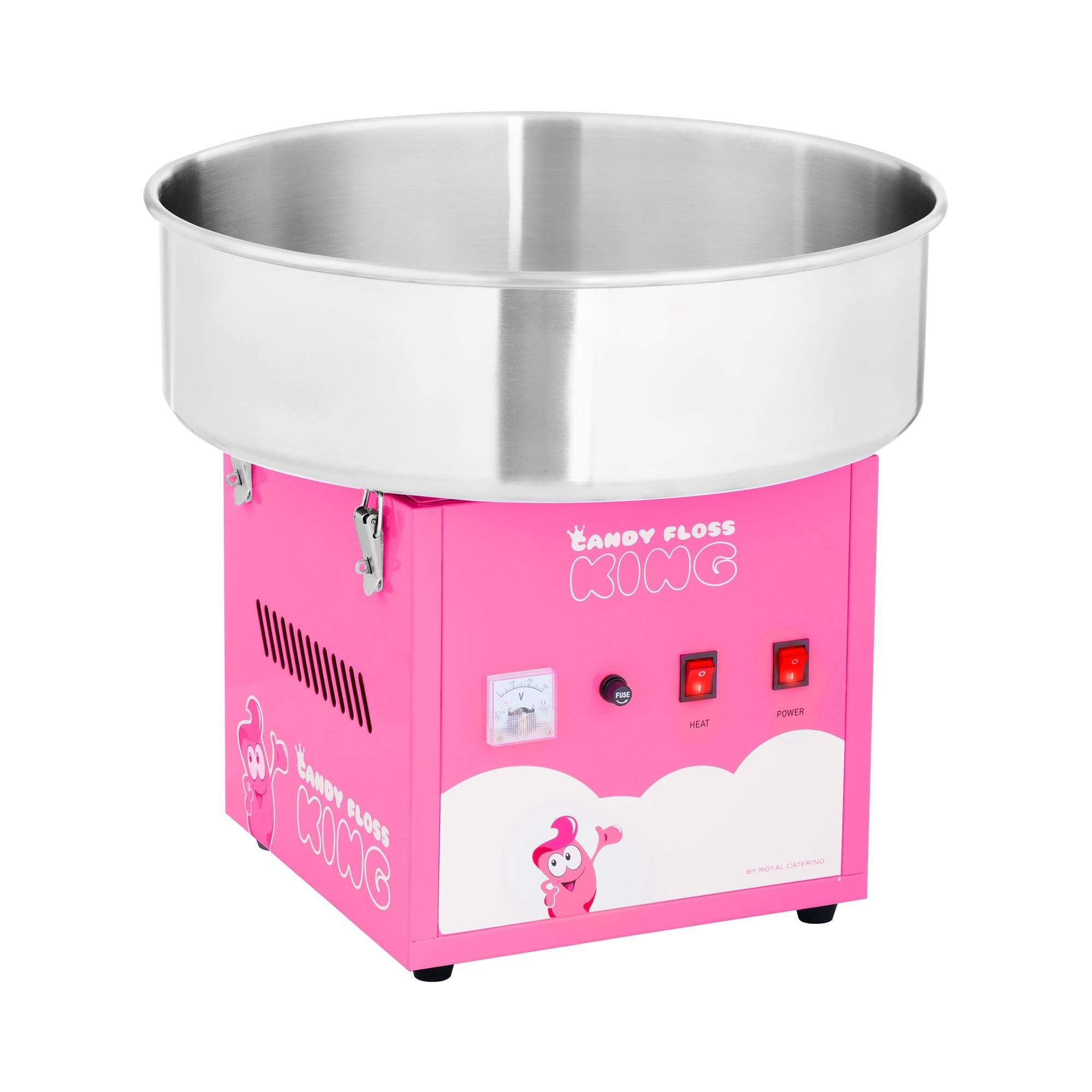 Royal Catering Machine à barbe à papa - 52 cm - 1 200 W - rose RCZK-1200-R
