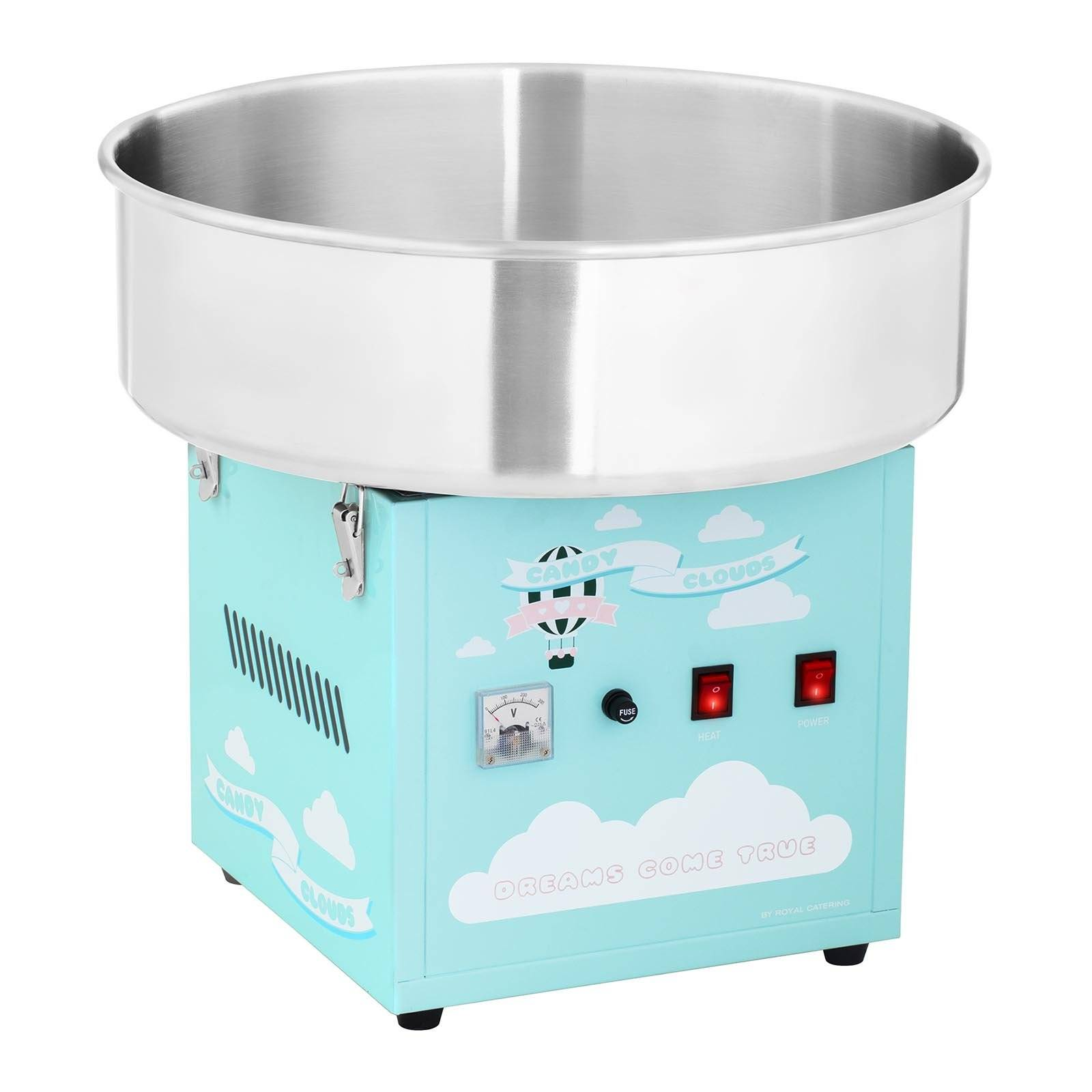 Royal Catering Machine à barbe à papa - 52 cm - 1 200 W - turquoise