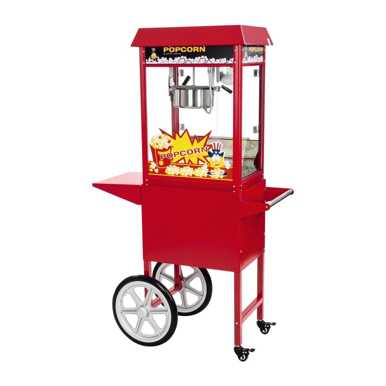 Royal Catering Machine à popcorn avec chariot - Rouge RCPW-16E