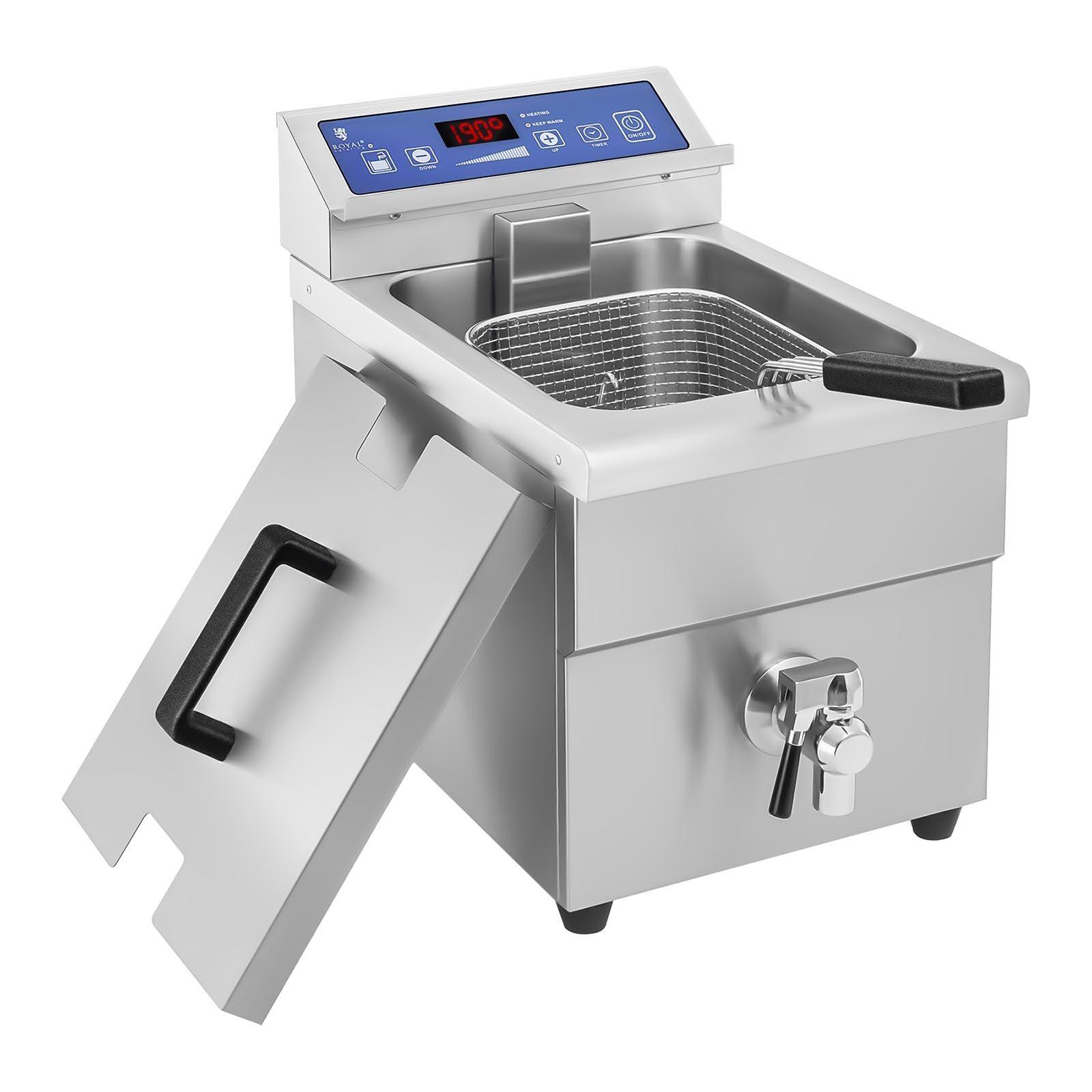 Royal Catering Friteuse à induction - 1x 10 litres - 60 à 190°C RCIF-10EB