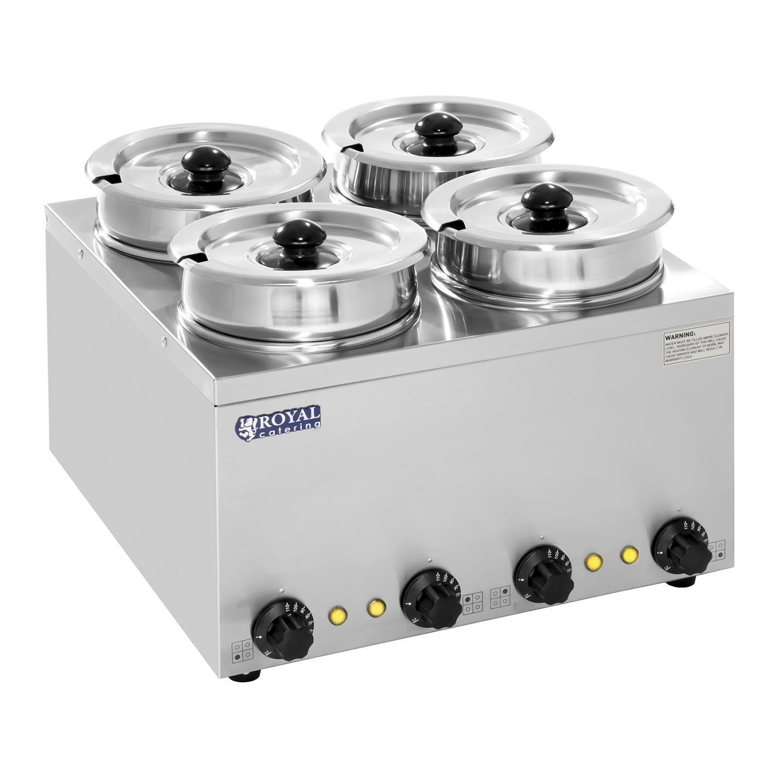 Royal Catering Distributeur de soupe - 4 réservoirs - 2,75 litres - 600 W