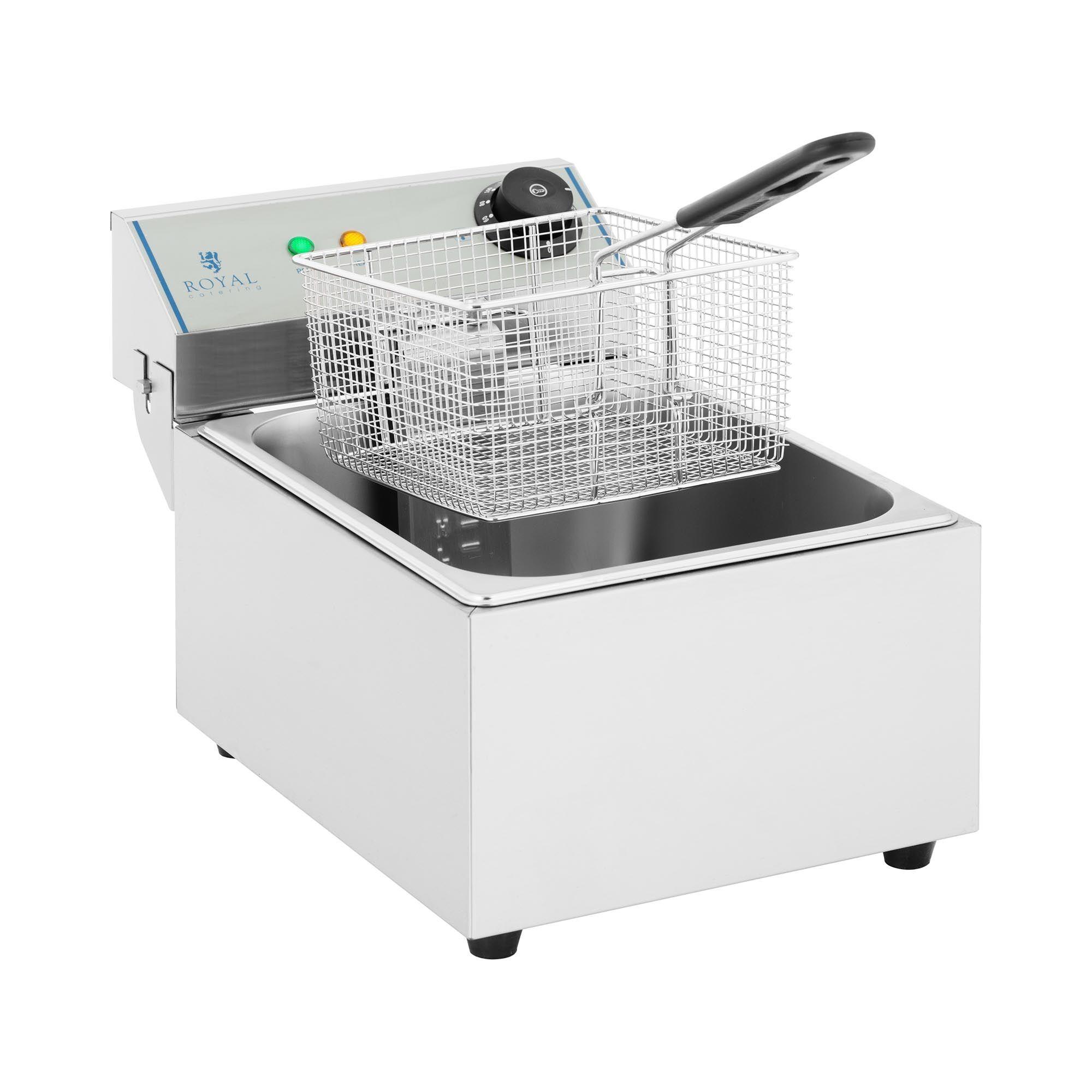 Royal Catering Friteuse électrique - 1 x 10 litres - ECO RCEF-10EY-ECO 1X10