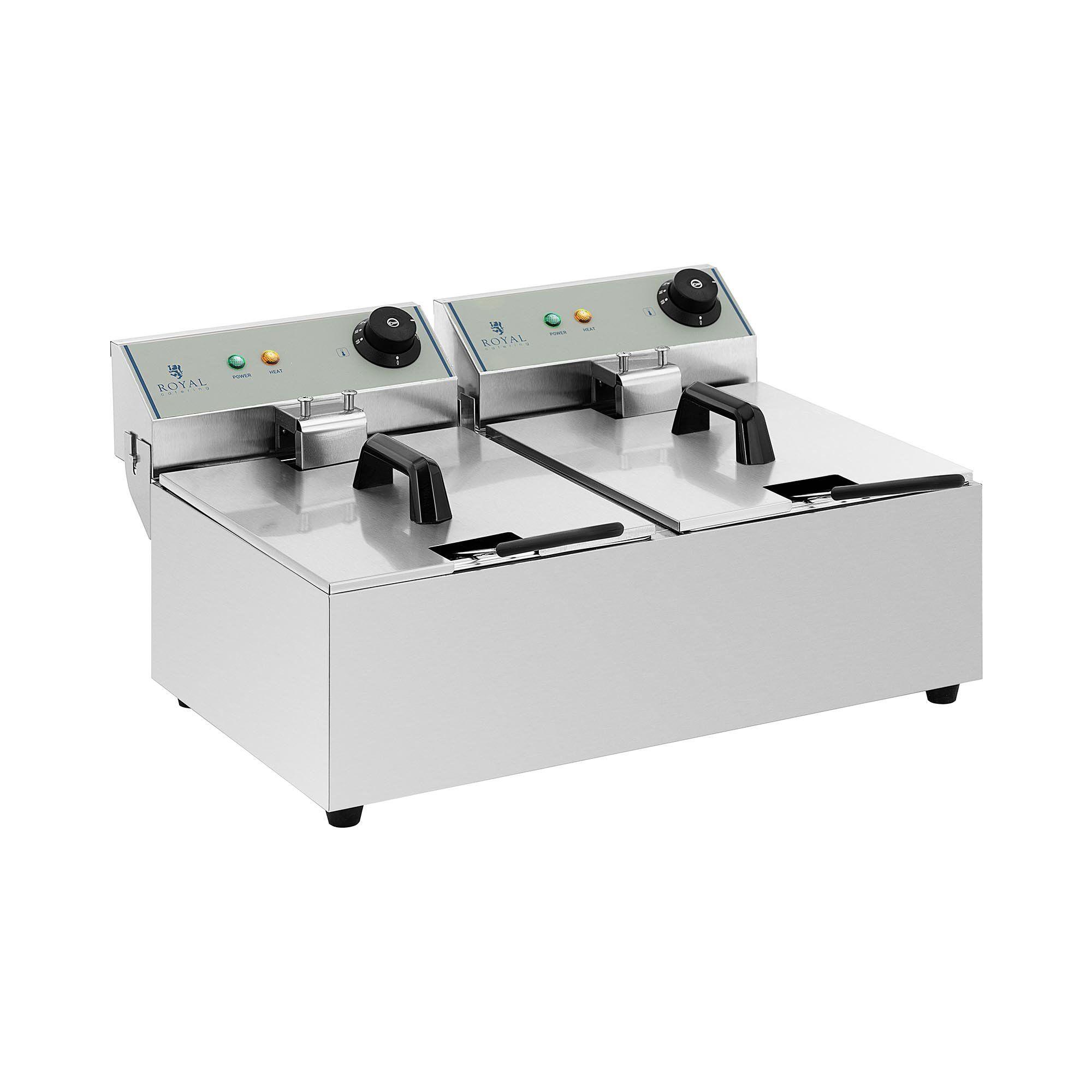 Royal Catering Friteuse électrique - 2 x 10 litres - ECO RCEF-10DY-ECO 2X10
