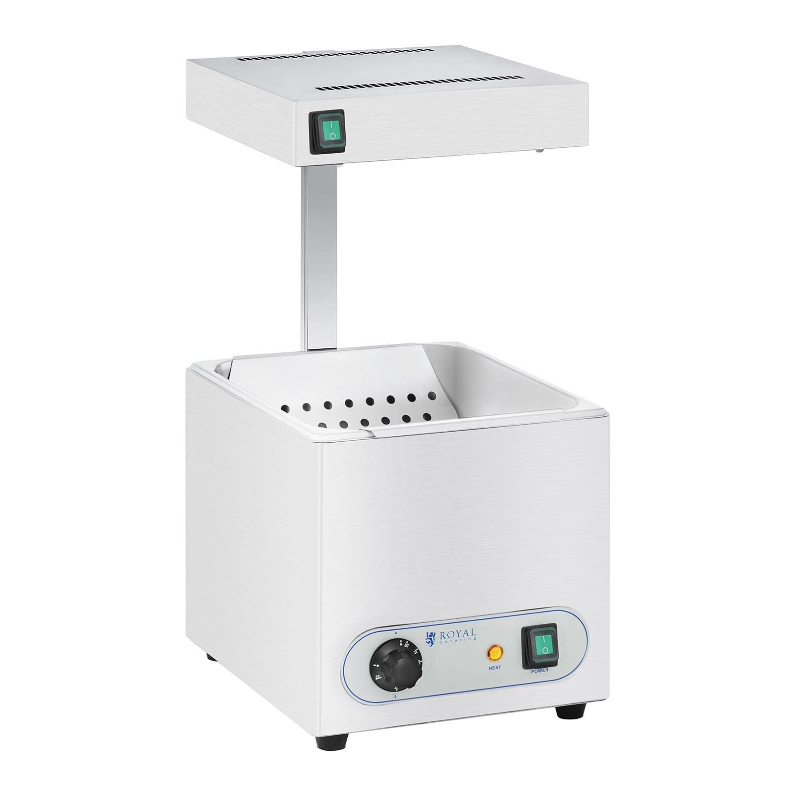 Royal Catering Chauffe frite et lampe chauffante infrarouge - 850 W RCWG-1500