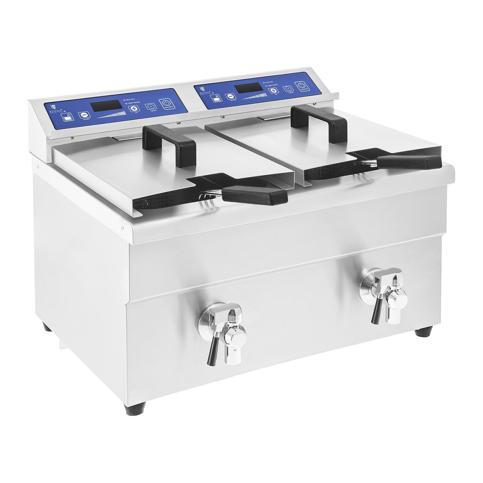 Royal Catering Friteuse à induction - 2 x 10 litres - 60 à 190°C RCIF-10DB
