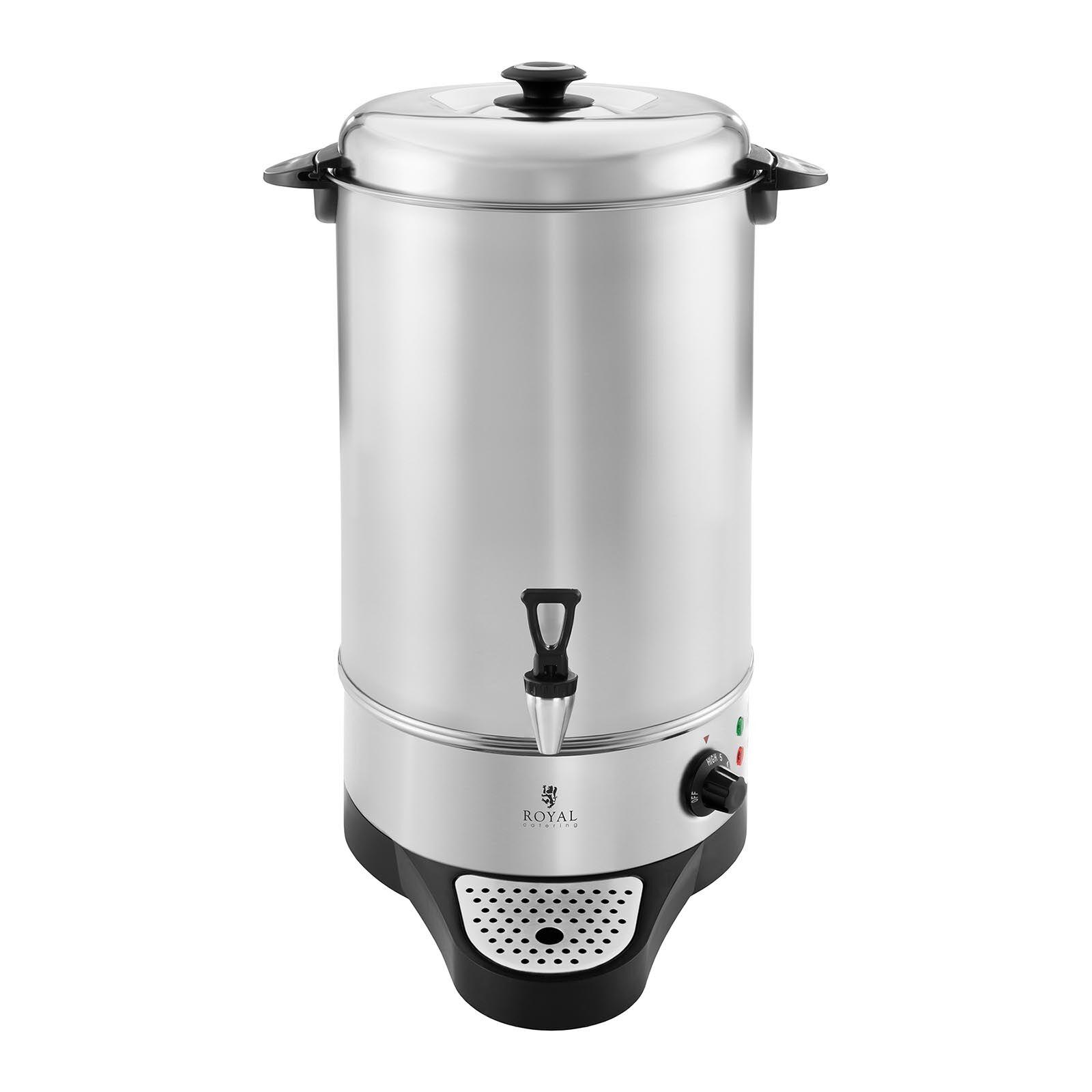 Royal Catering Distributeur d'eau chaude – 10 Litres - Égouttoir RCWK 10A