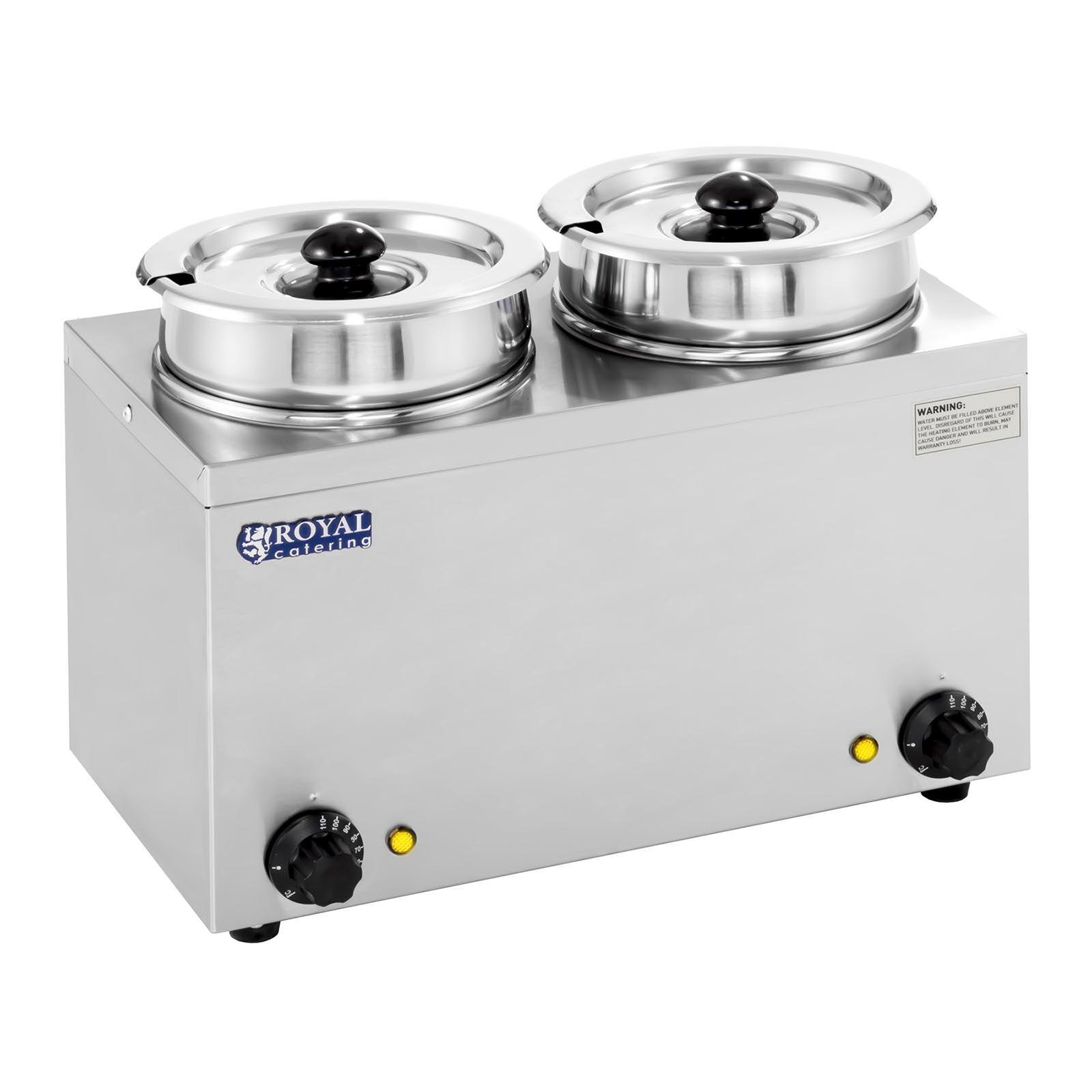 Royal Catering Distributeur de soupe - 2 x 2,75 litres - 300 W RCBM-2/4R