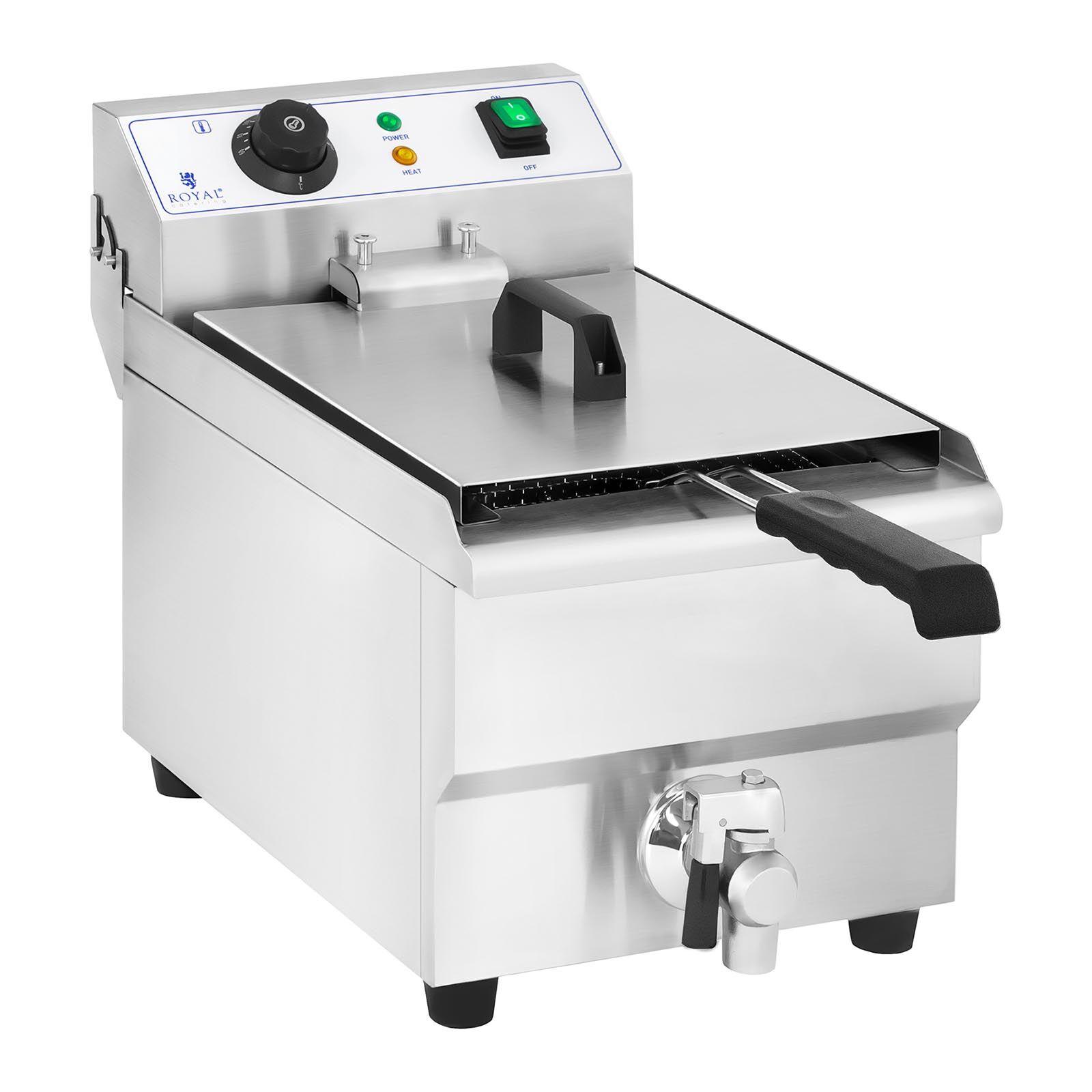 Royal Catering Friteuse électrique - 10 litres avec robinet de vidange RCEF 10EH-1