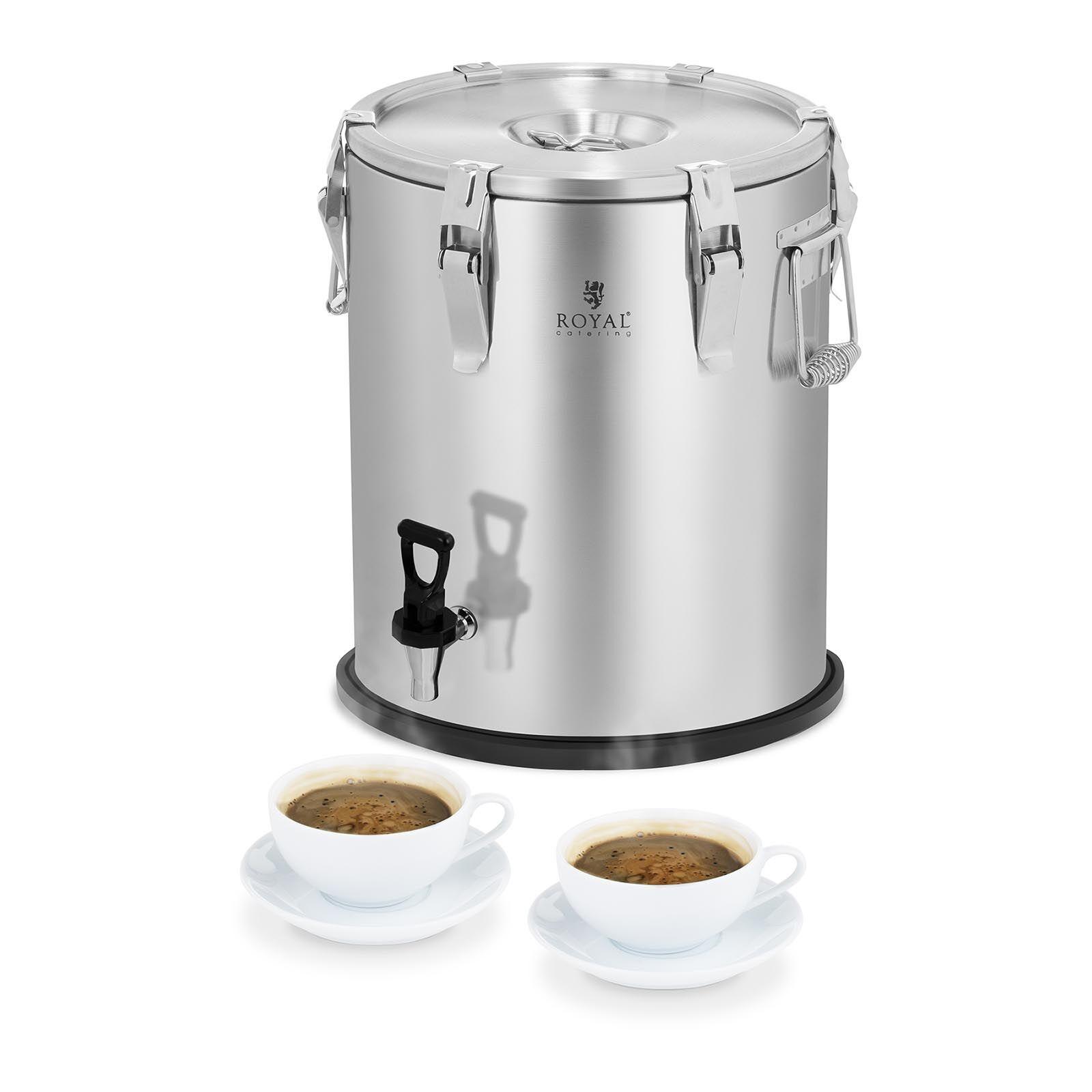 Royal Catering Conteneur isotherme - acier inoxydable - 25 L - avec robinet