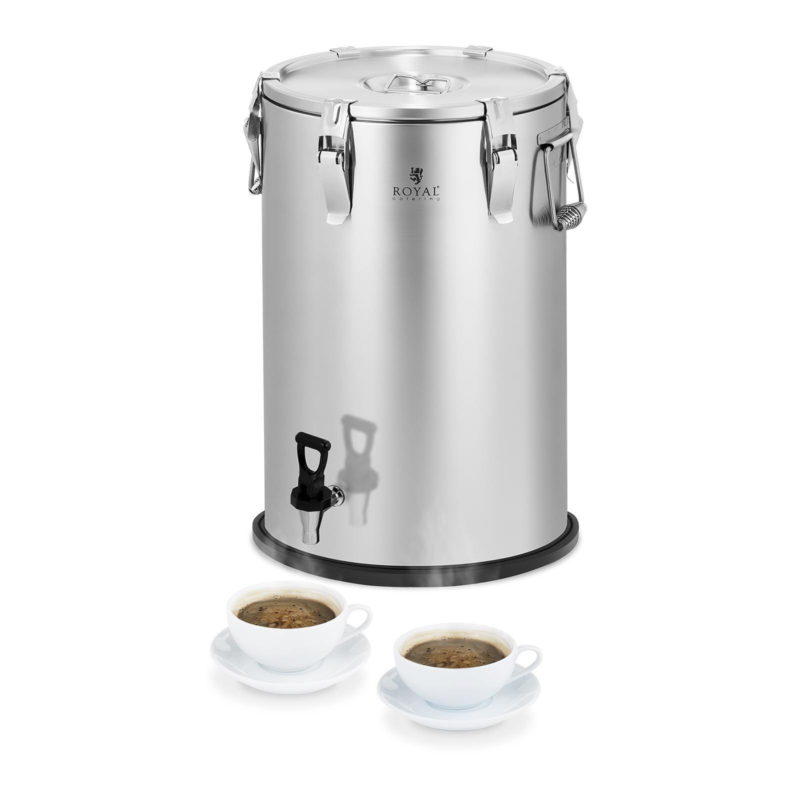 Royal Catering Conteneur isotherme - acier inoxydable - 35 L - avec robinet
