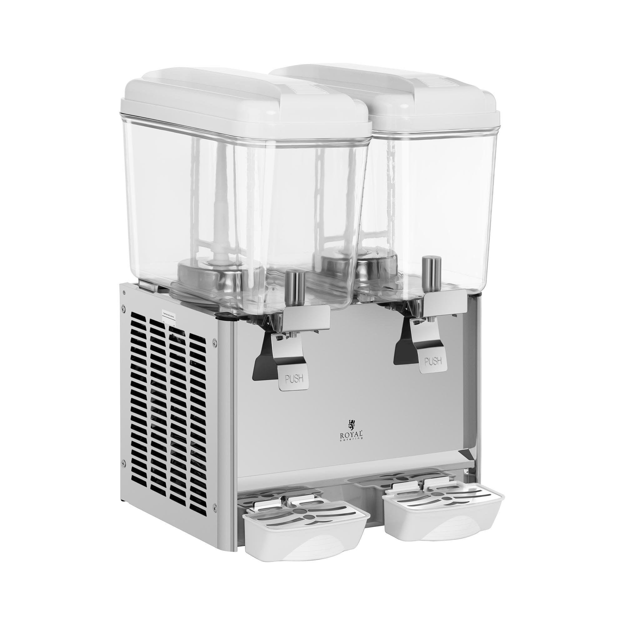 Royal Catering Distributeur de jus - 2 x 18 litres RCSD-36C