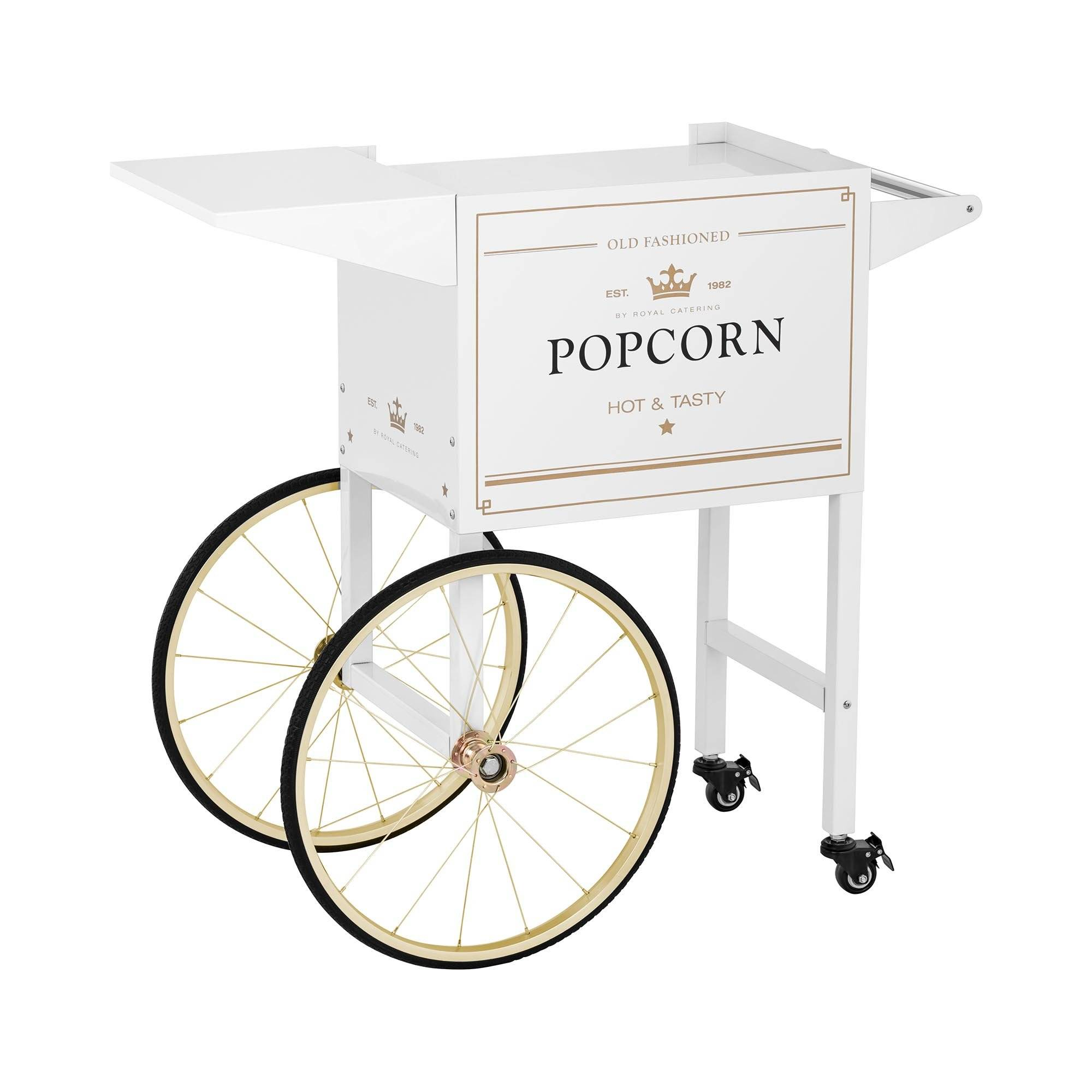 Royal Catering Chariot à popcorn - Coloris blanc et or RCPT-WGWG-1