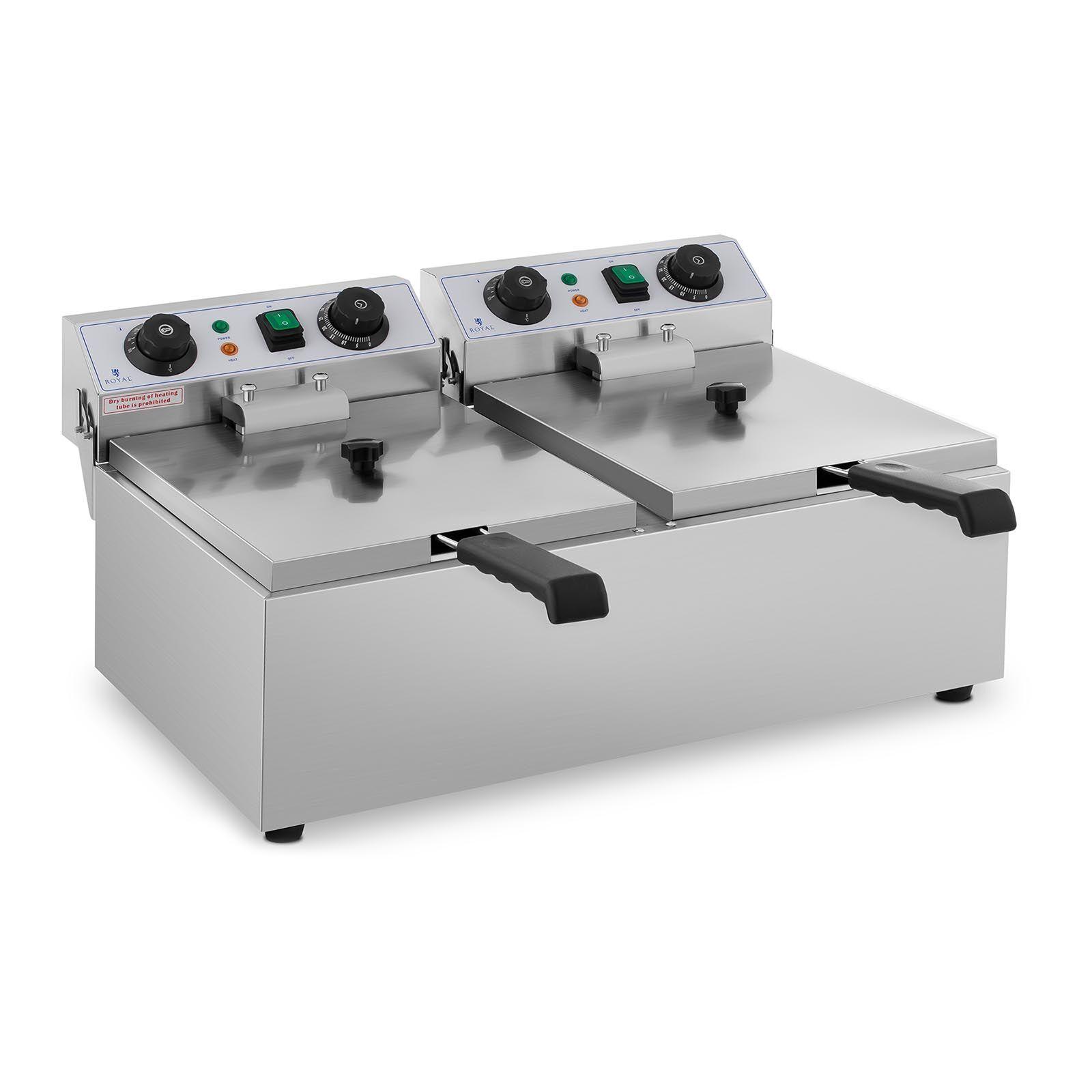 Royal Catering Friteuse électrique - 2 x 10 litres - Minuterie RCTF 10DB