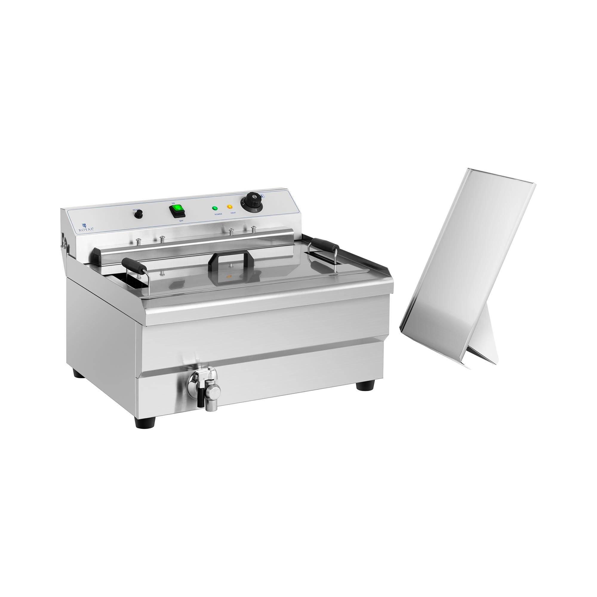 Royal Catering Friteuse à beignets - 30 l - 9 000 W - Zone froide RCBG-30STHB