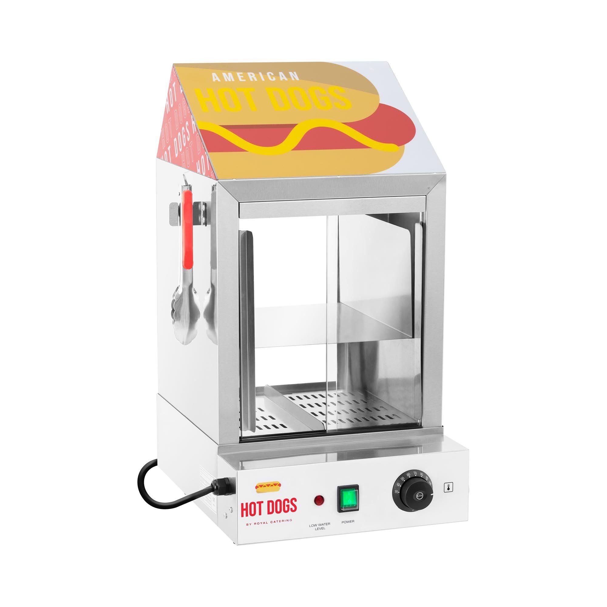 Royal Catering Cuiseur à vapeur pour hot dogs - 100 saucisses - 25 pains - 1 000 W RCHW 1000H
