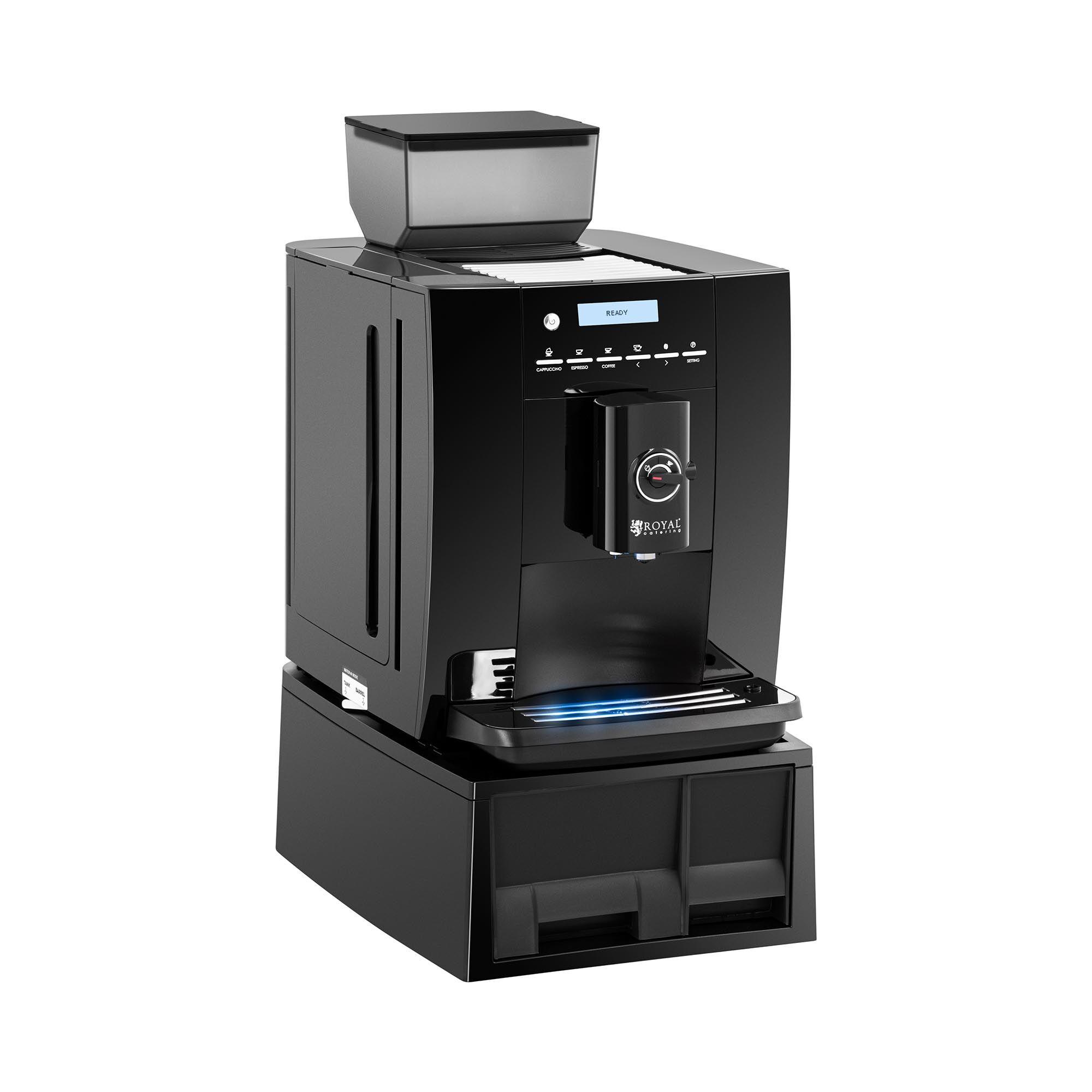 Royal Catering Machine à café automatique - Max. 750 g de grains - Mousseur à lait RC-FACMP