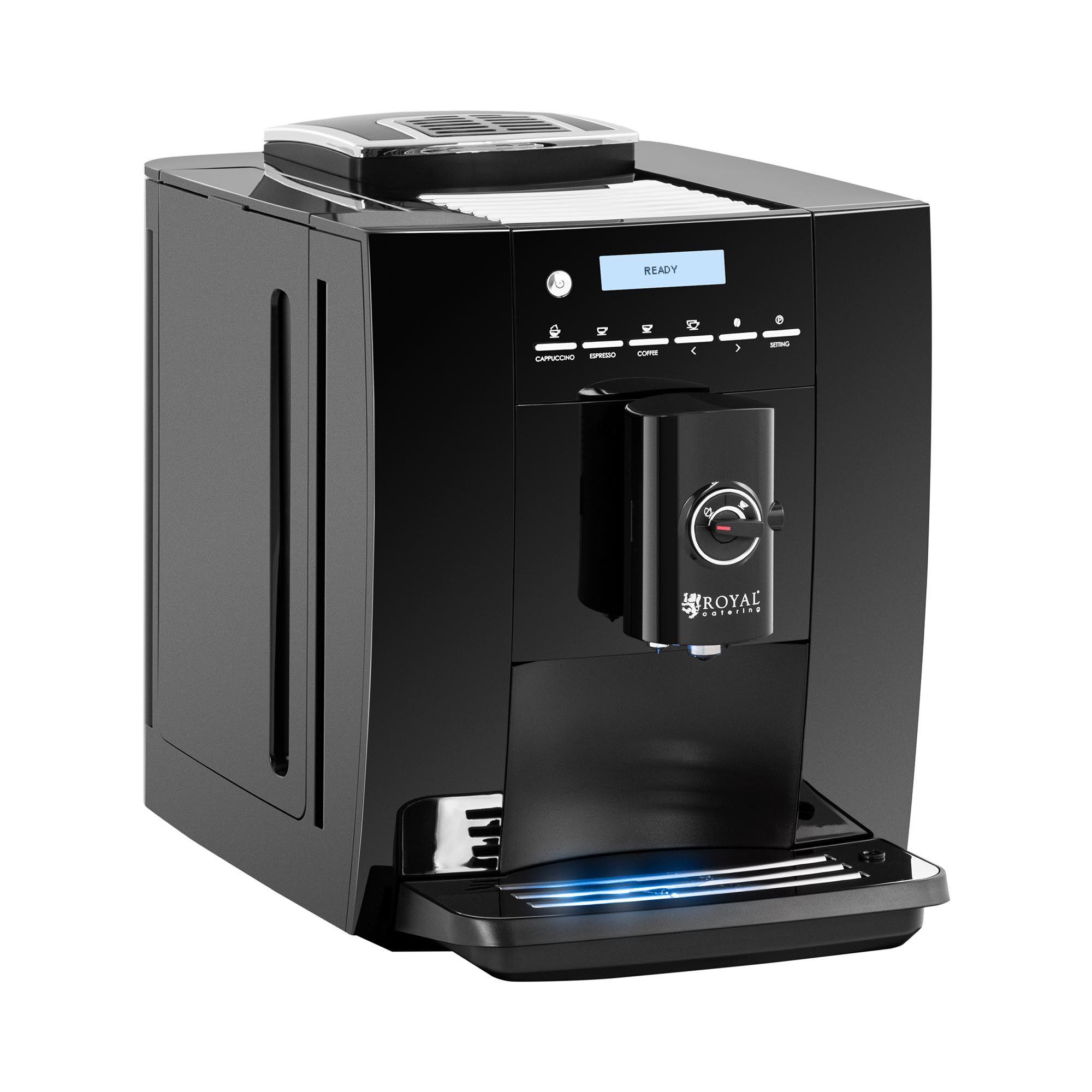 Royal Catering Machine à café automatique - Max. 250 g de grains - Mousseur à lait RC-FACM