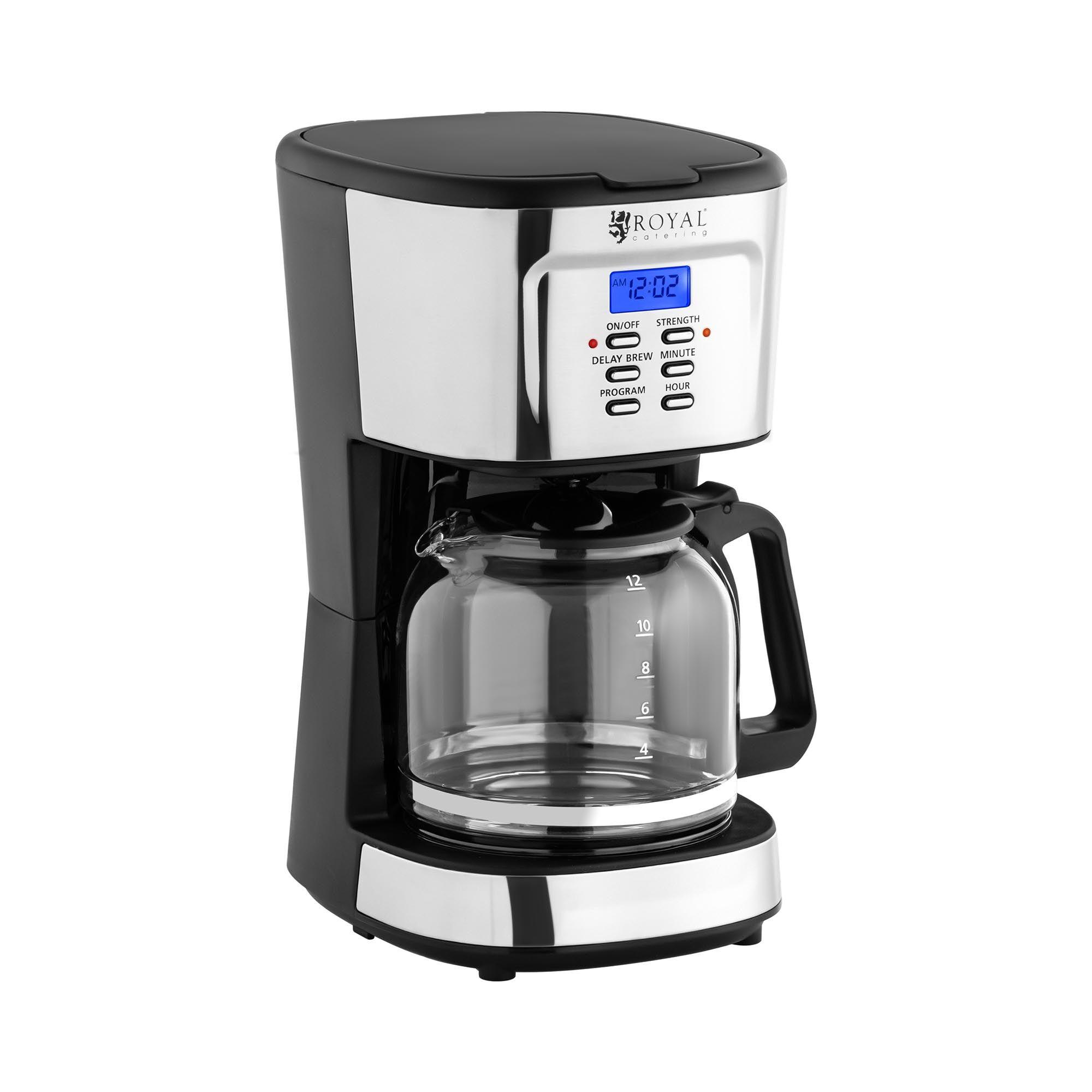 Royal Catering Machine à café filtre - LCD - Filtre permanent - 1,5 l RC-FCM01
