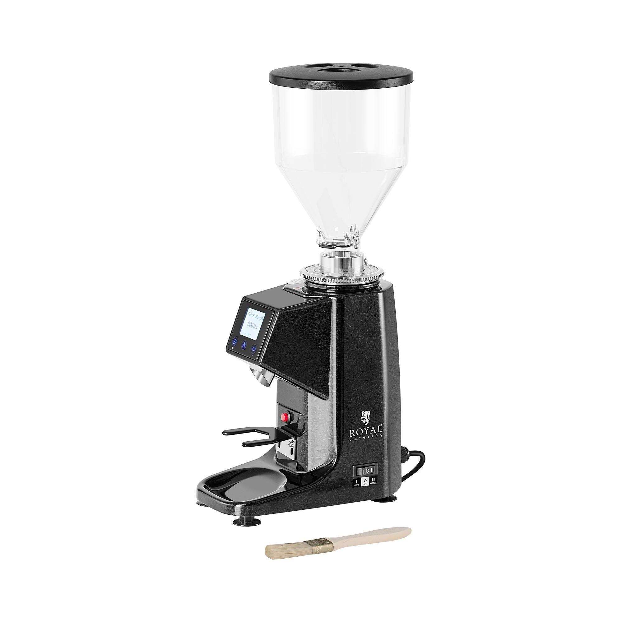 Royal Catering Moulin à café électrique - 200 W - Aluminium - Noir RC-CGE22