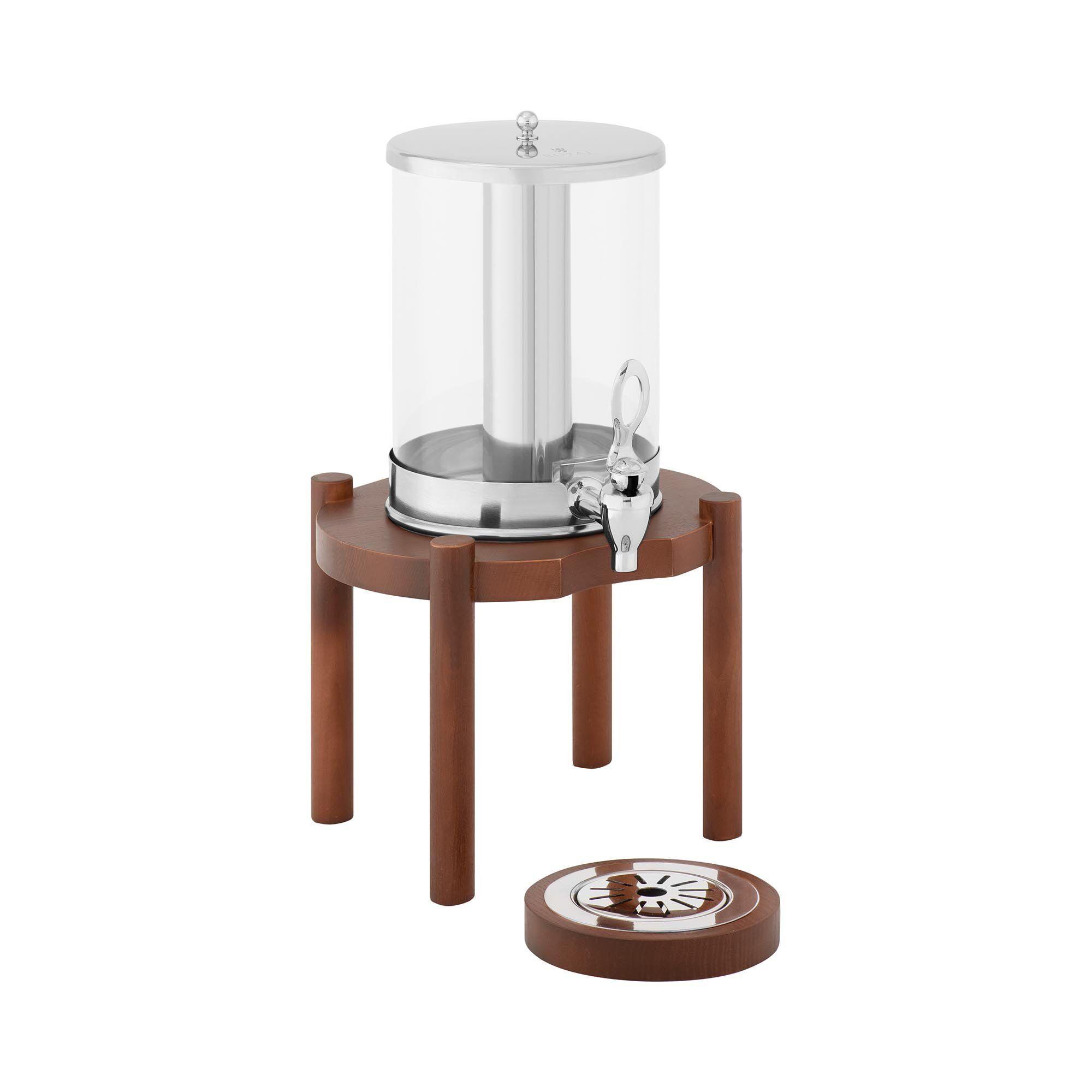 Royal Catering Distributeur de boissons - 7 l - Dispositif de refroidissement - Cadre en bois foncé RCSD-1W3