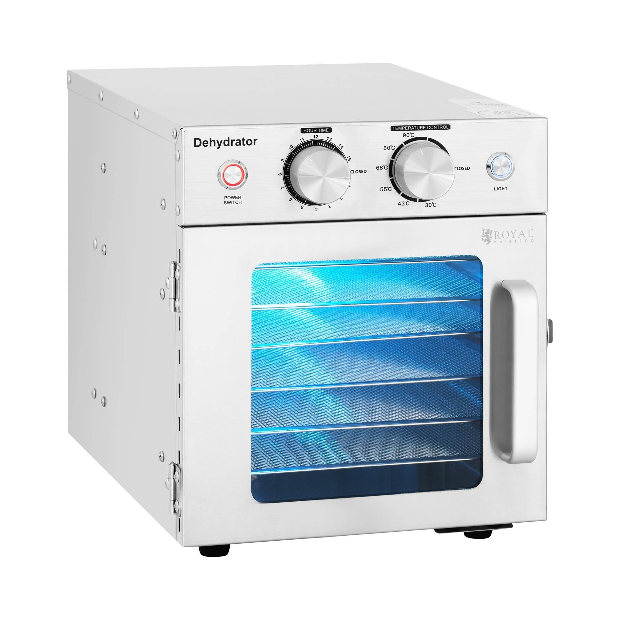 Royal Catering Déshydrateur alimentaire - 500 W - Royal Catering - 6 étages RCDA-15S