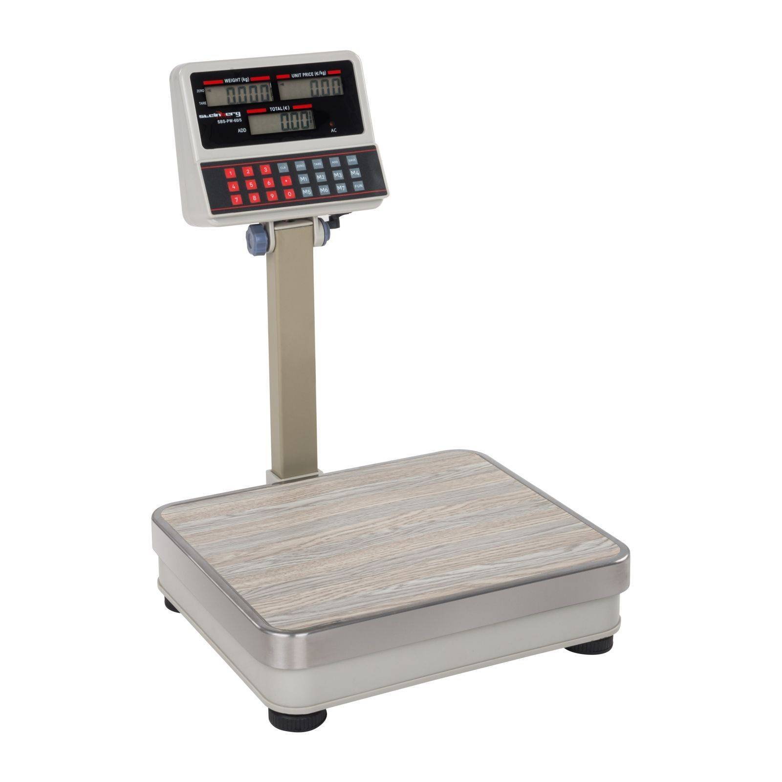 Steinberg Systems Balance poids-prix blanche - 60kg/5g - LCD SBS-PW-60/5