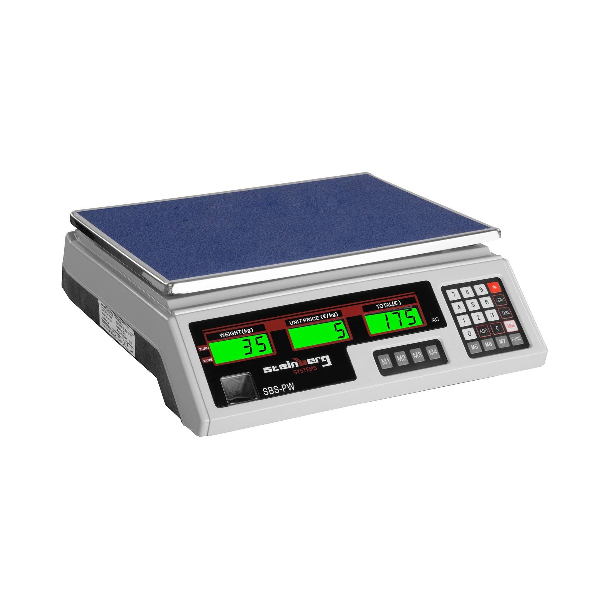 Steinberg Systems Balance poids-prix - 35 kg / 2 g - blanche - LCD SBS-PW-352W