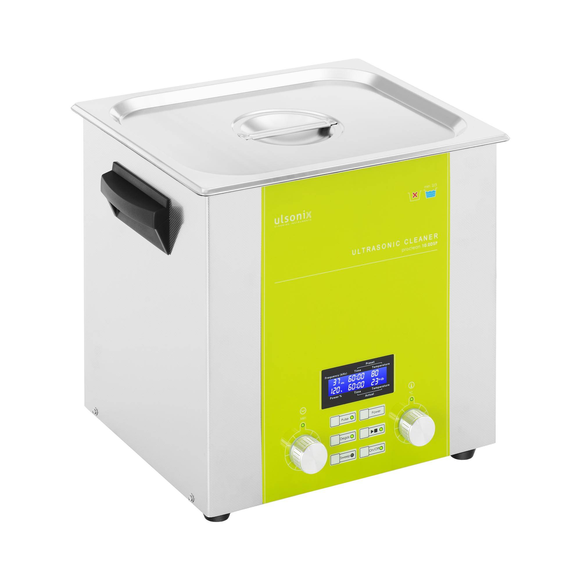 ulsonix Nettoyeur à ultrasons - 10 litres - Degas - Sweep - Puls PROCLEAN 10.0DSP