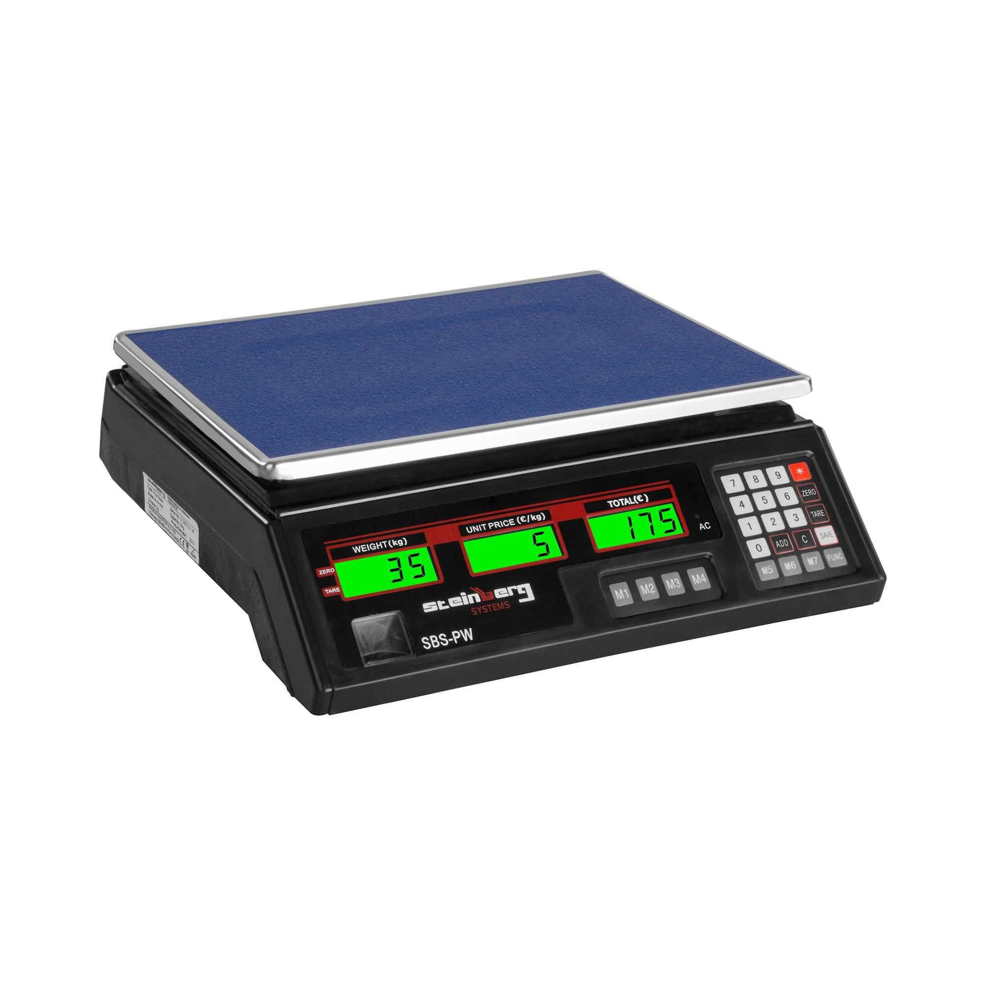 Steinberg Systems Balance poids-prix - 35 kg / 2 g - noire - LCD SBS-PW-352B