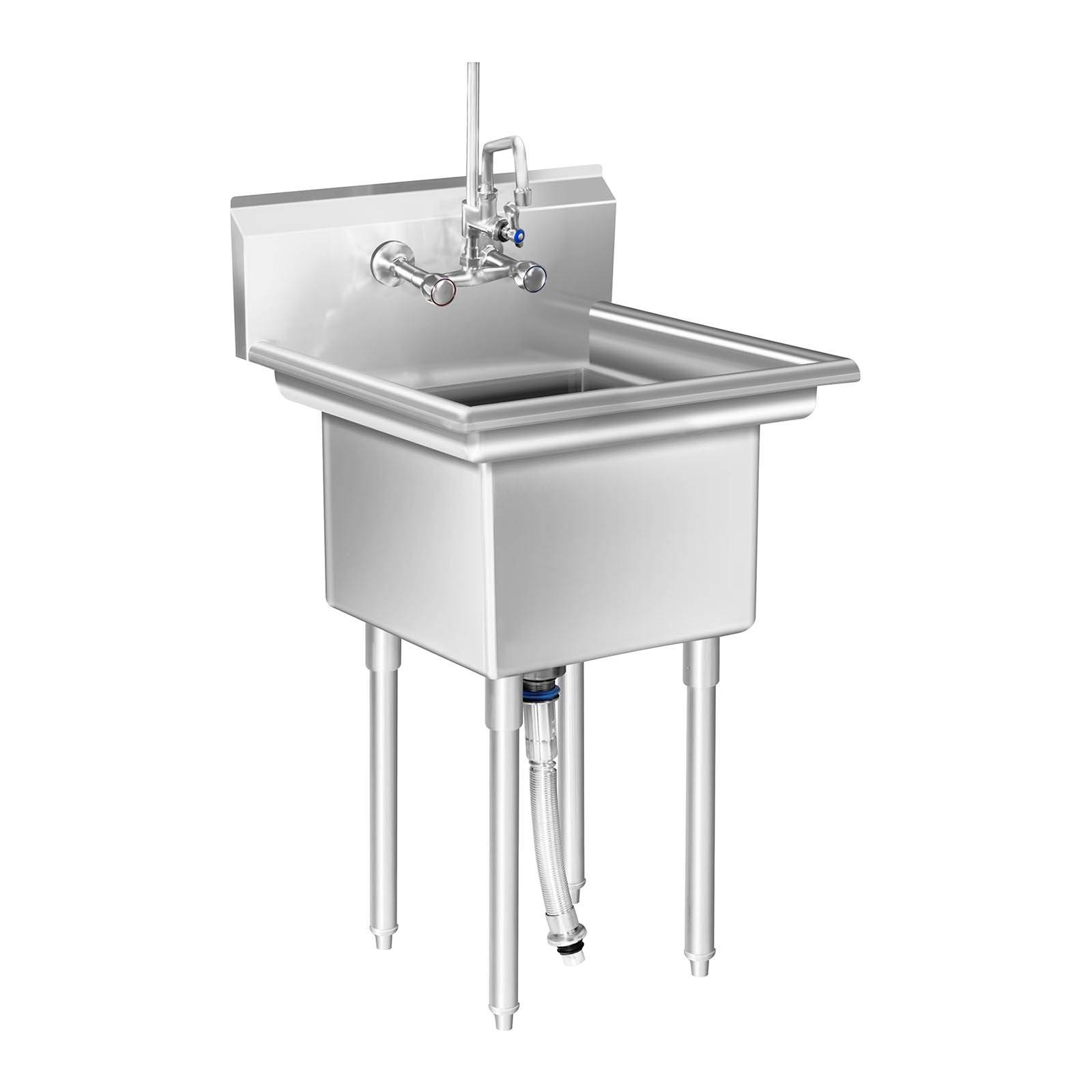 Royal Catering Evier professionnel – 1 Bac – 58 x 60 x 110 cm RCHS-7
