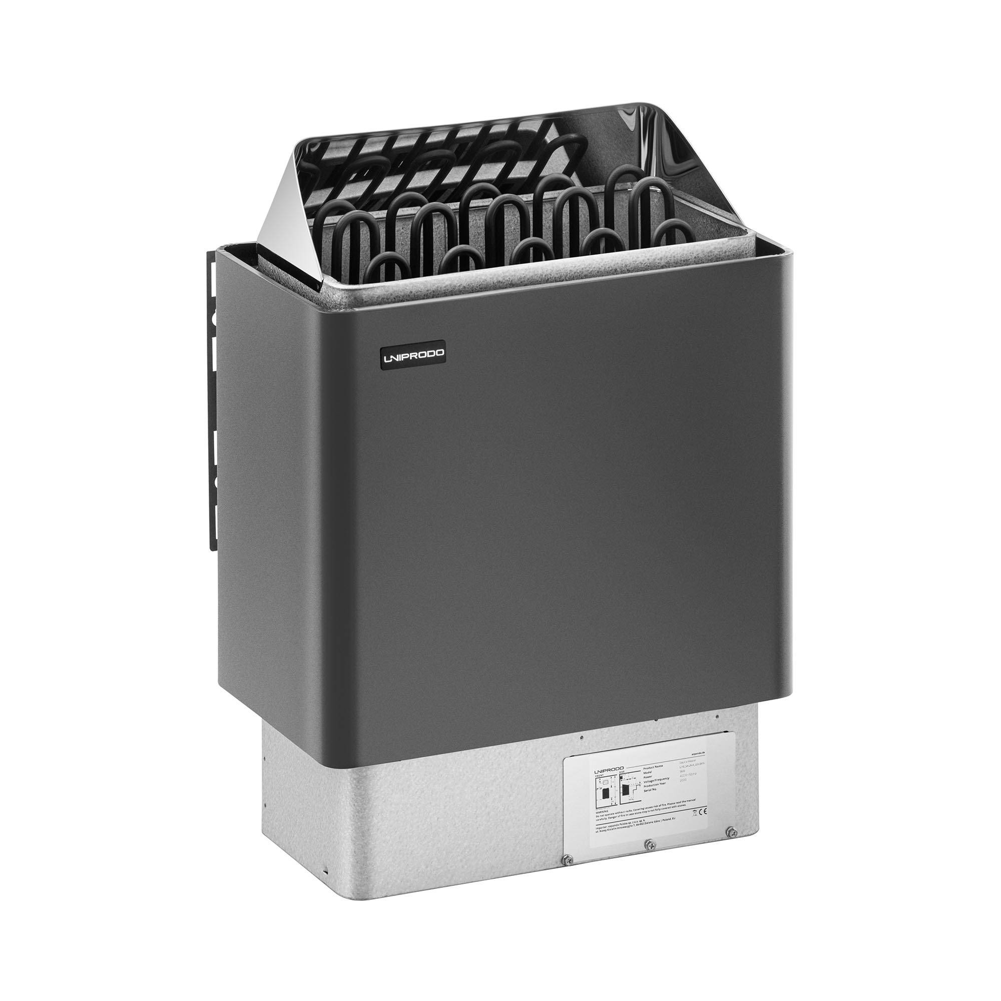 Uniprodo Poêle pour sauna - 9 kW - 30 à 110 °C UNI_SAUNA_G9.0KW